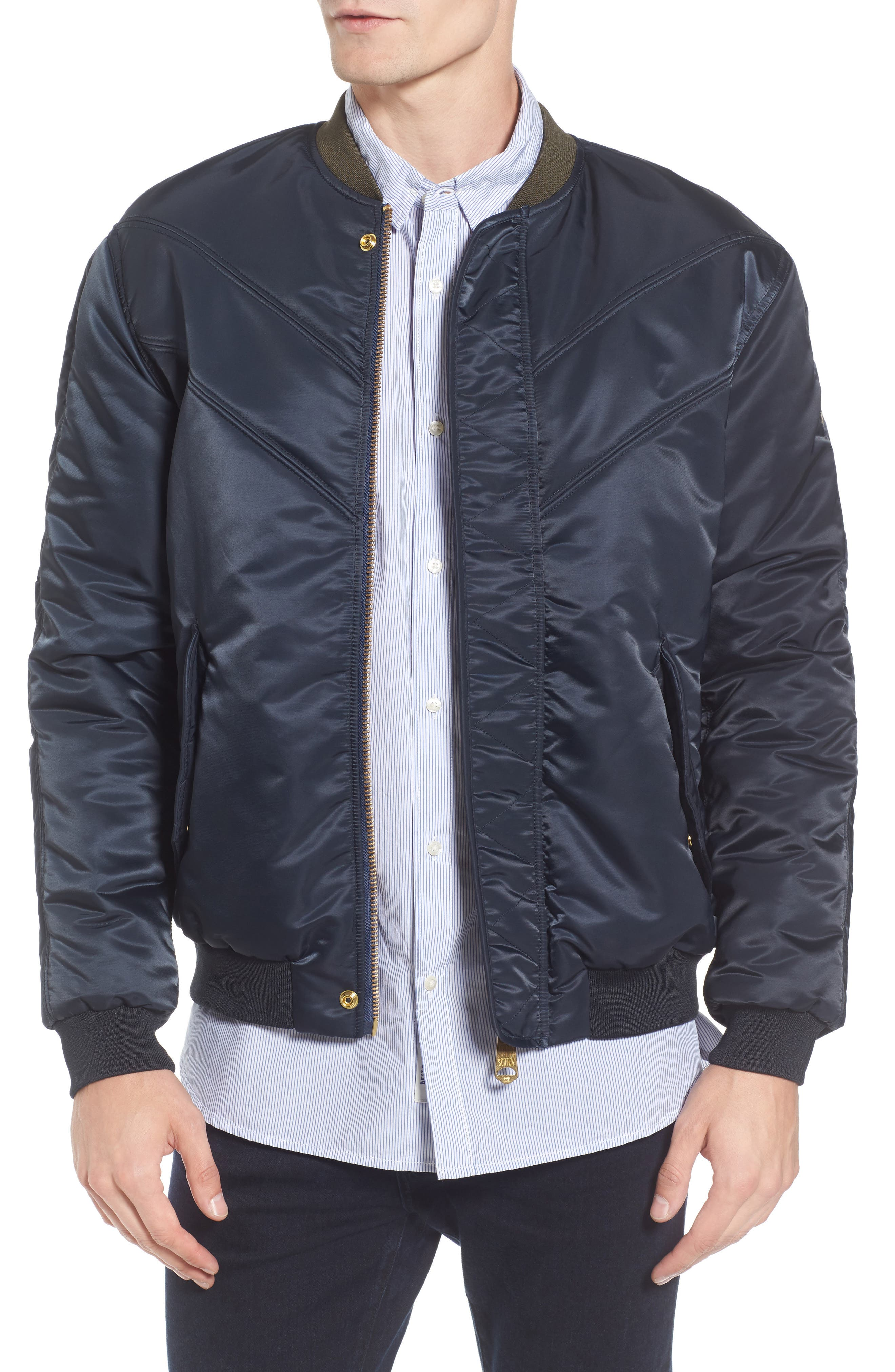 Bomber Jacket,                         Main,                         color, Night