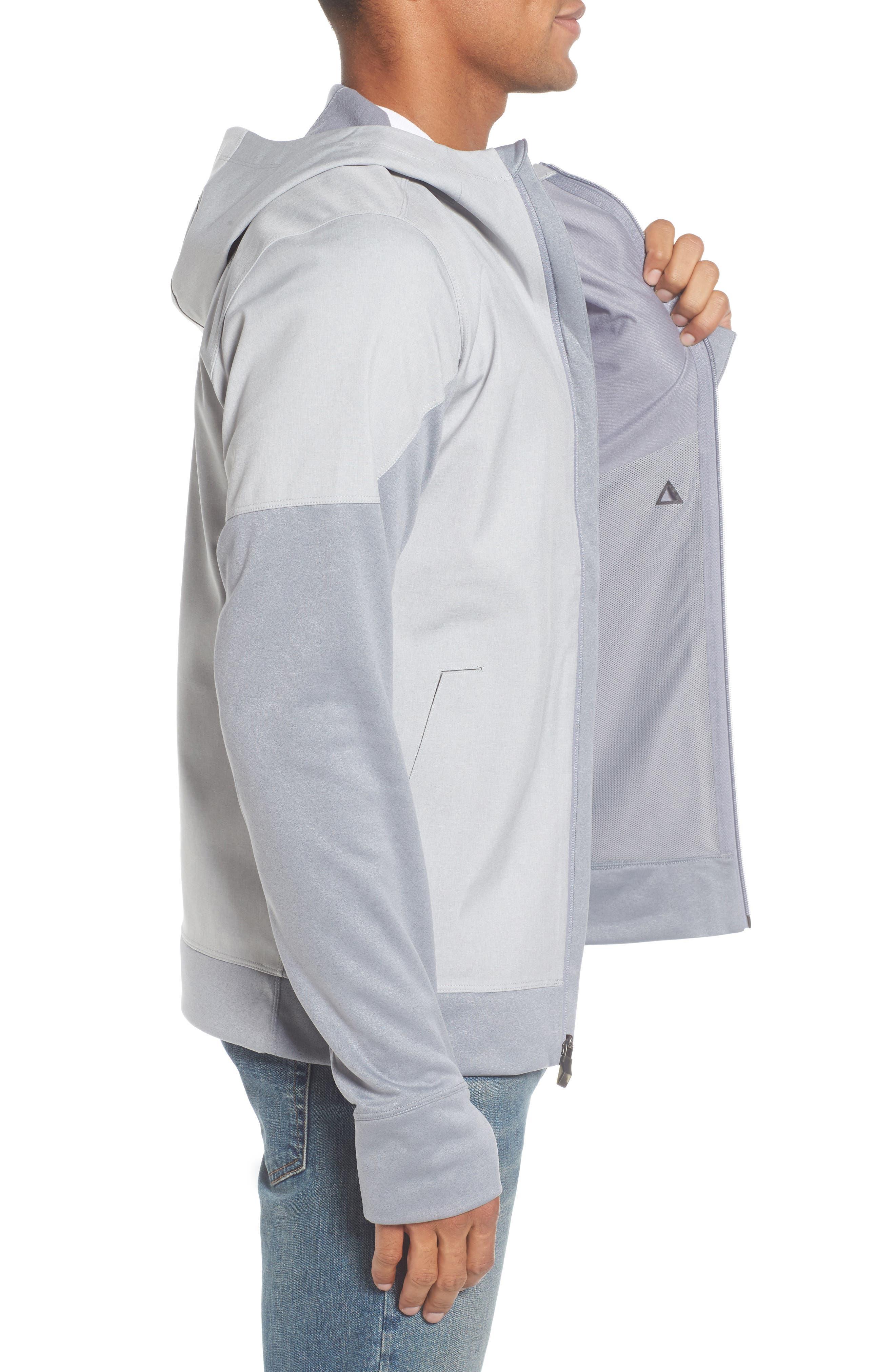 'Kilowatt' Hooded Jacket,                             Alternate thumbnail 3, color,                             Tnf Light Grey Heather