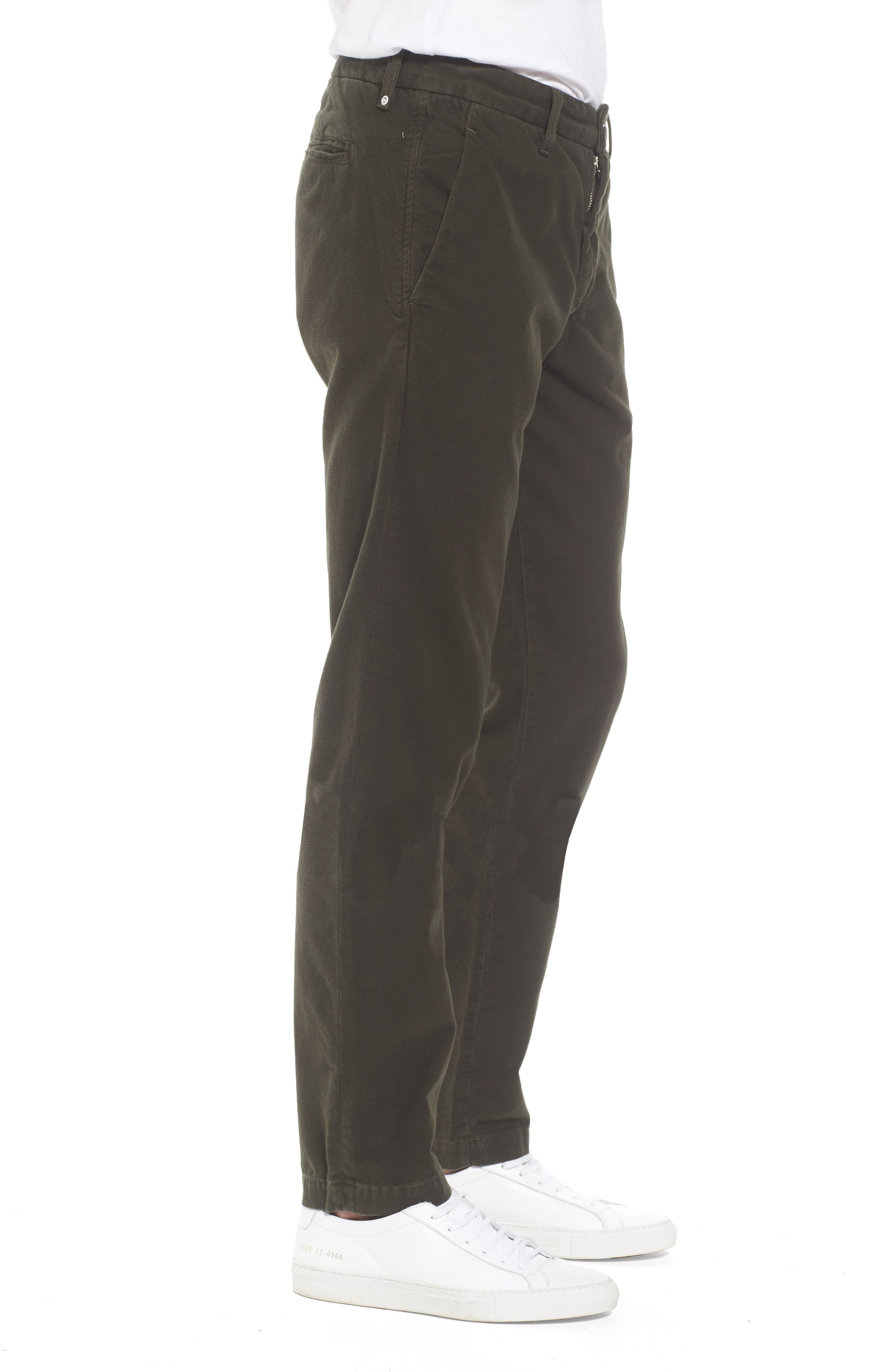 Slim Fit Trousers,                             Alternate thumbnail 3, color,                             Forest