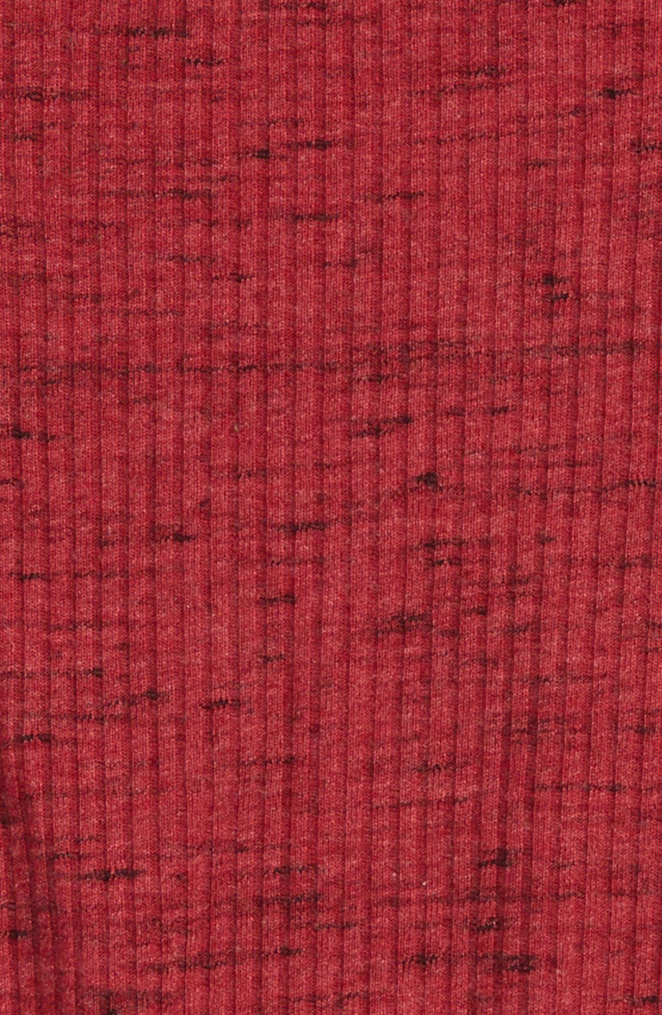 Cutout Rib Knit Tee,                             Alternate thumbnail 2, color,                             Red Tibetan Spacedye