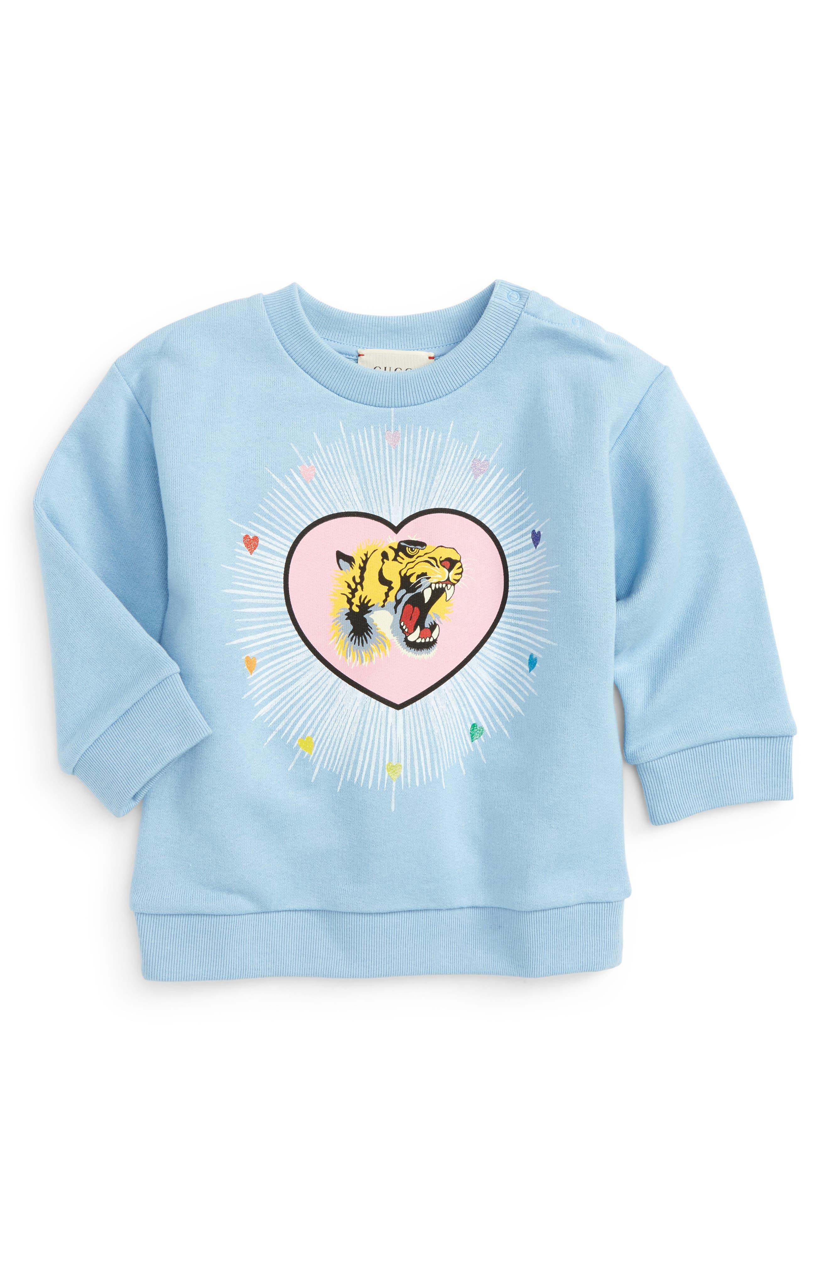 Gucci Tiger Heart Print Sweatshirt (Baby Girls)