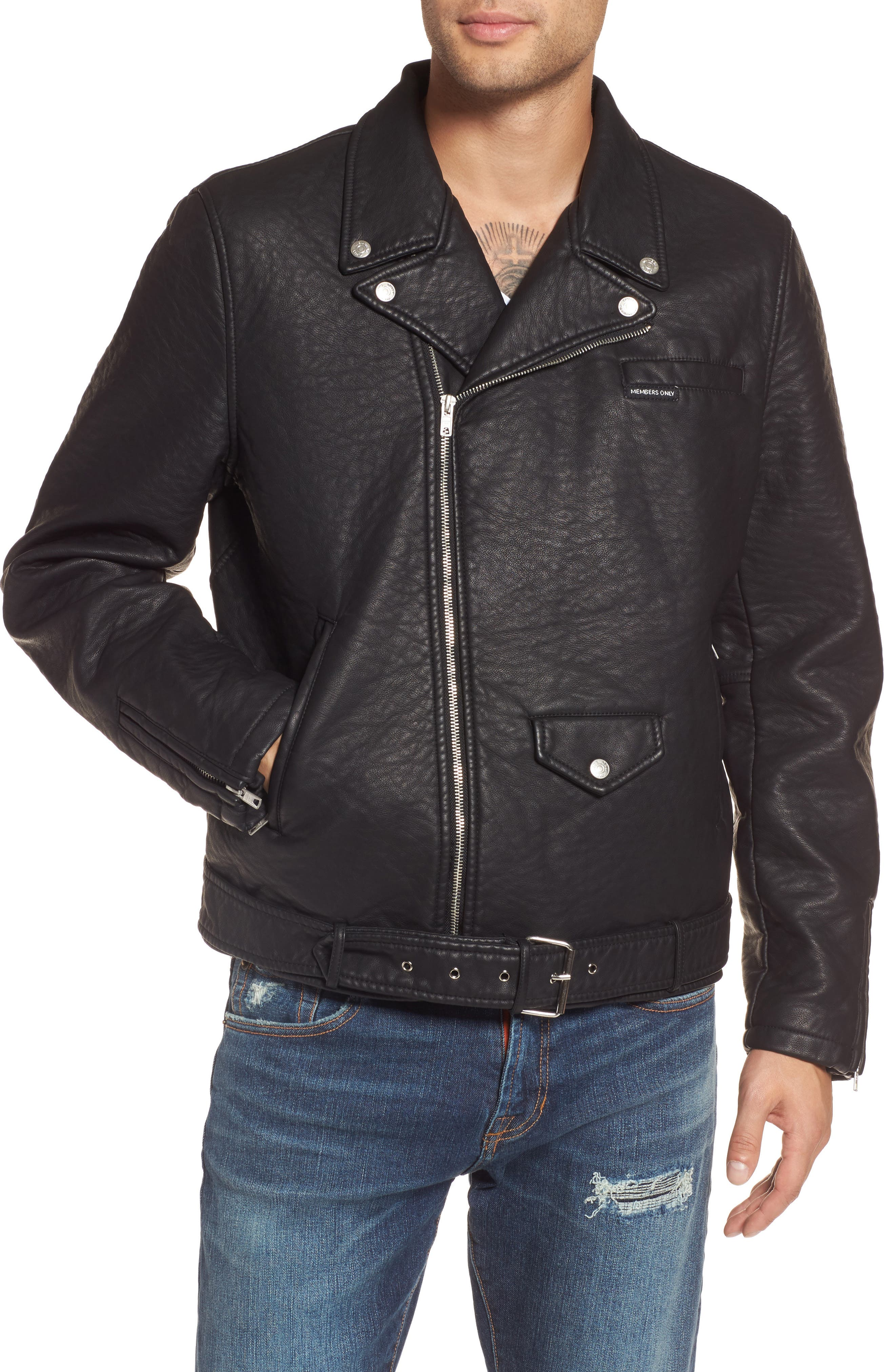 Alternate Image 4  - Members Only Faux Leather Moto Jacket
