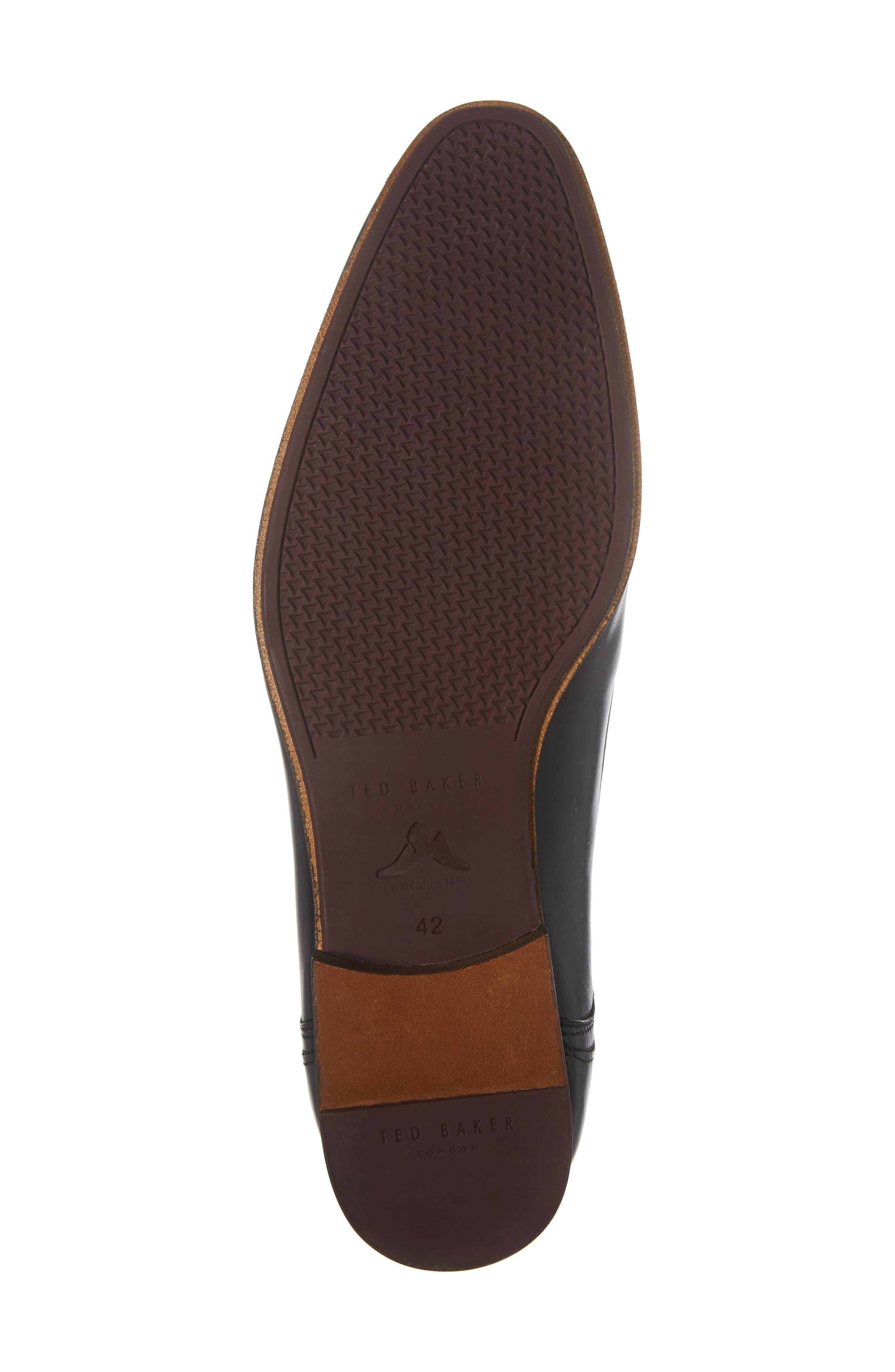 Avionn Plain Toe Derby,                             Alternate thumbnail 6, color,                             Black Leather