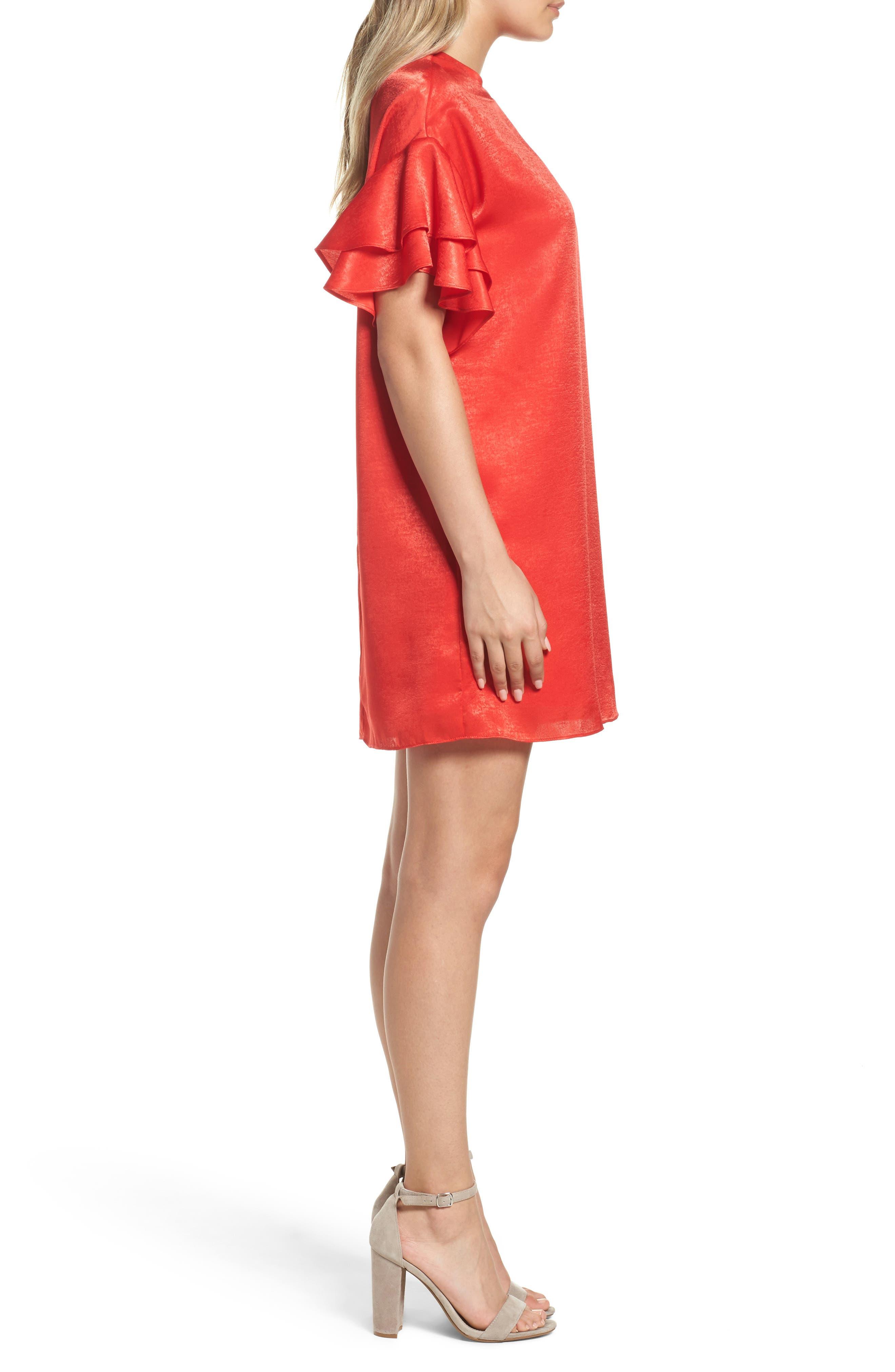 Alternate Image 3  - NSR Ruffle Charmeuse Shift Dress