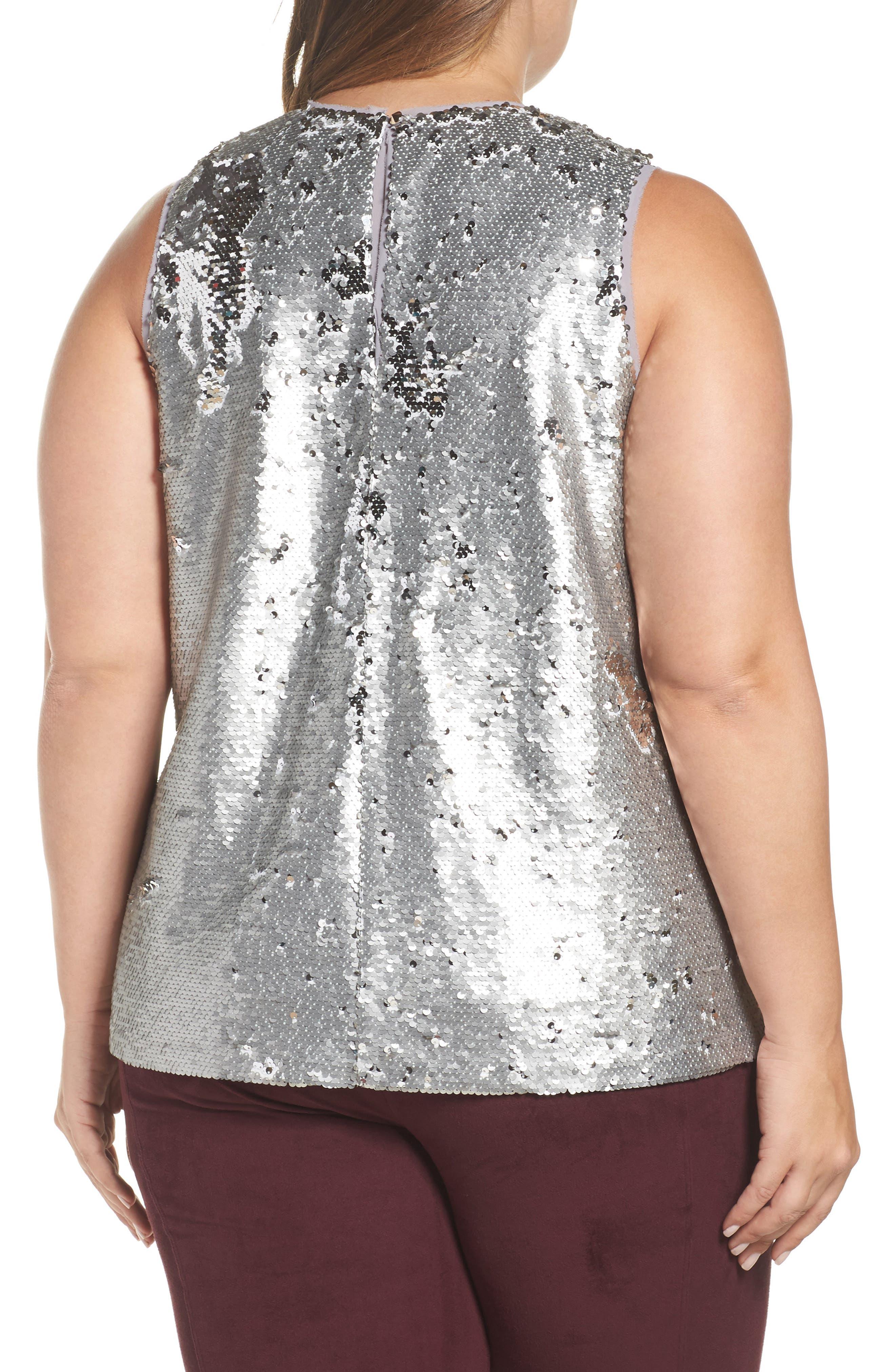 Alternate Image 3  - RACHEL Rachel Roy Sequin Top (Plus Size)