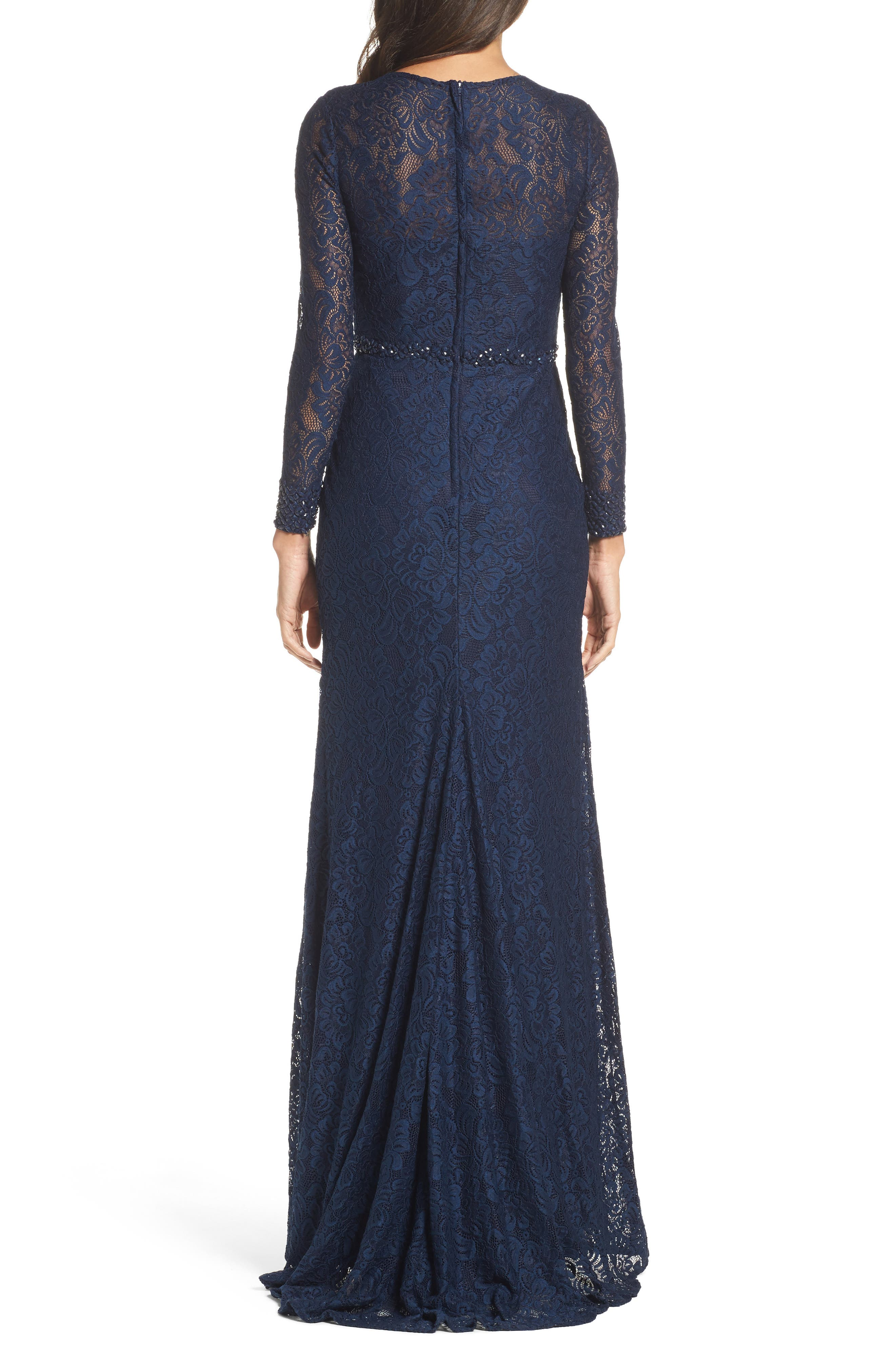 Alternate Image 2  - La Femme Embellished Lace Gown