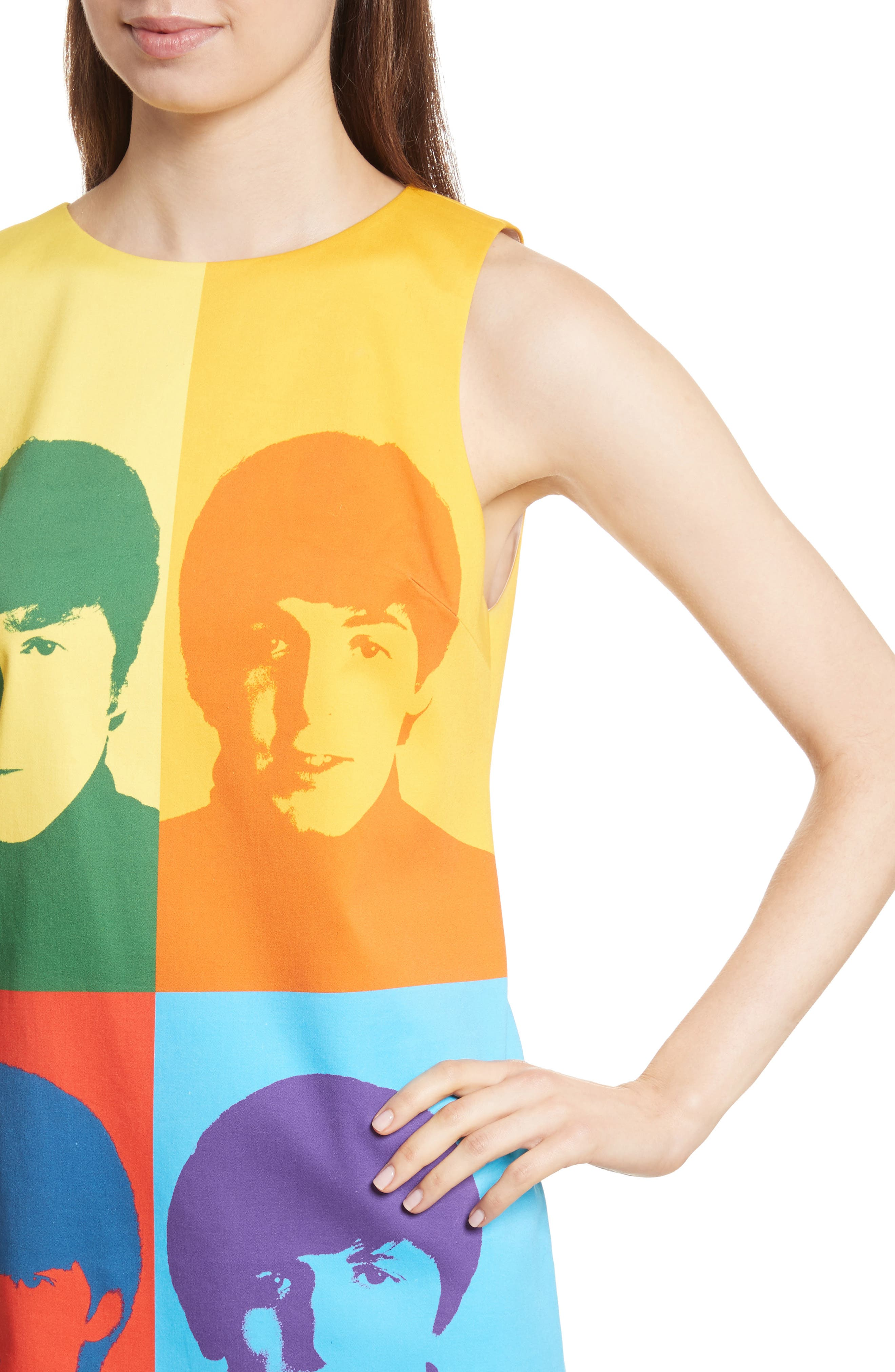 Alternate Image 4  - Alice + Olivia AO x The Beatles Clyde A-Line Shift Dress
