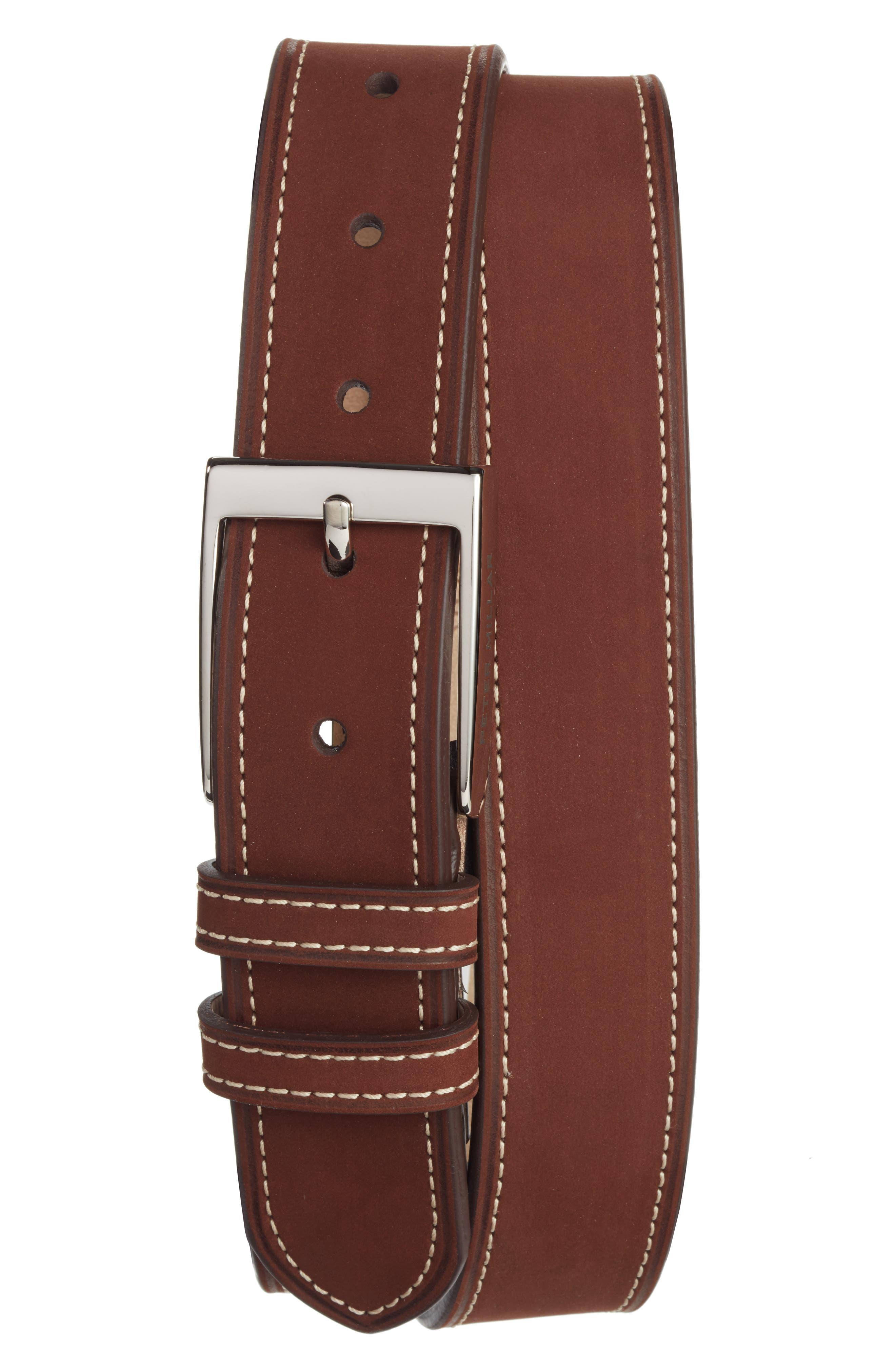 Peter Millar Nubuck Leather Belt