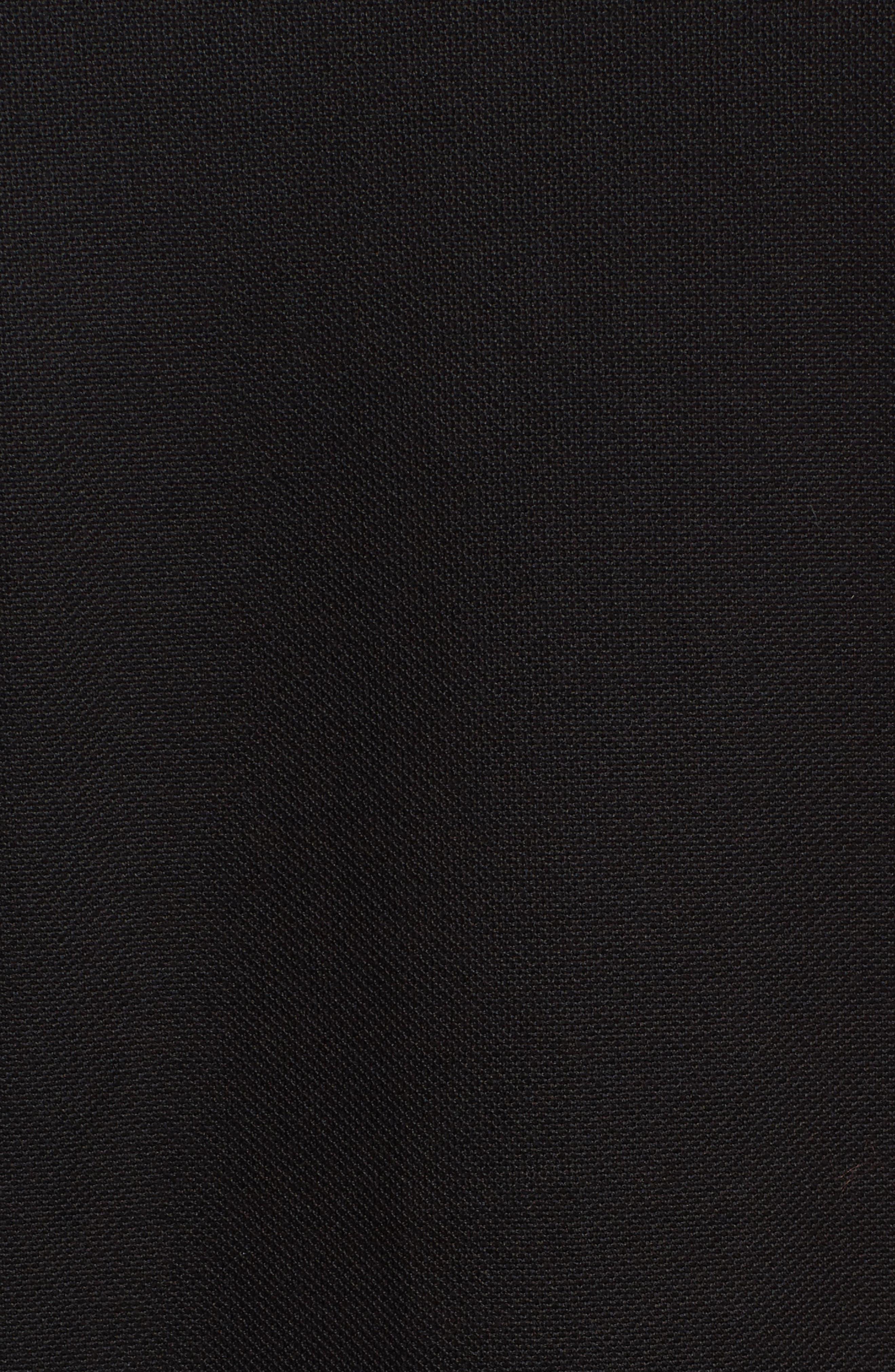 Classic Fit Piqué Knit Shirt,                             Alternate thumbnail 5, color,                             Black