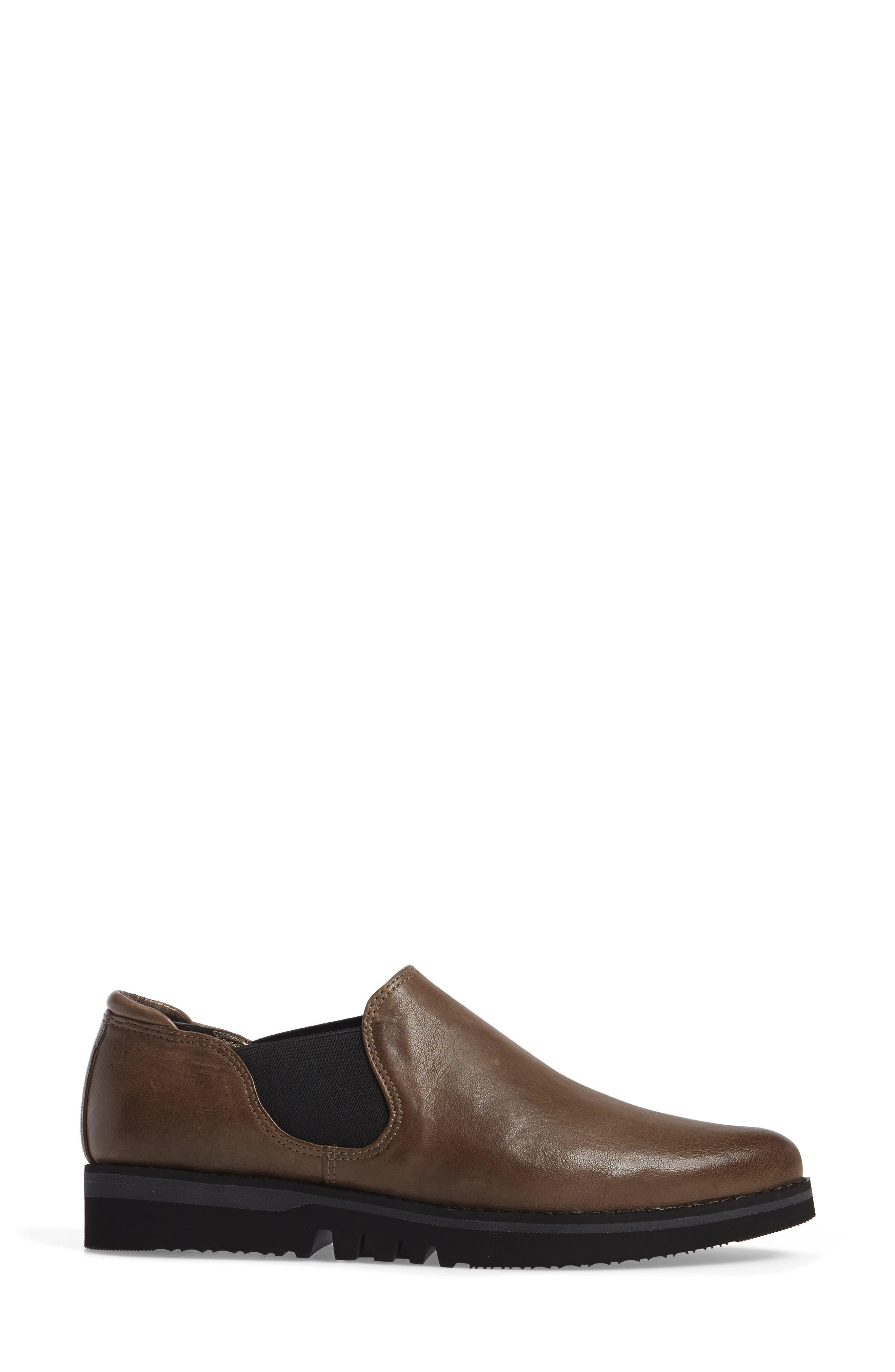 Brooklyn Slip-On,                             Alternate thumbnail 3, color,                             Mushroom Leather