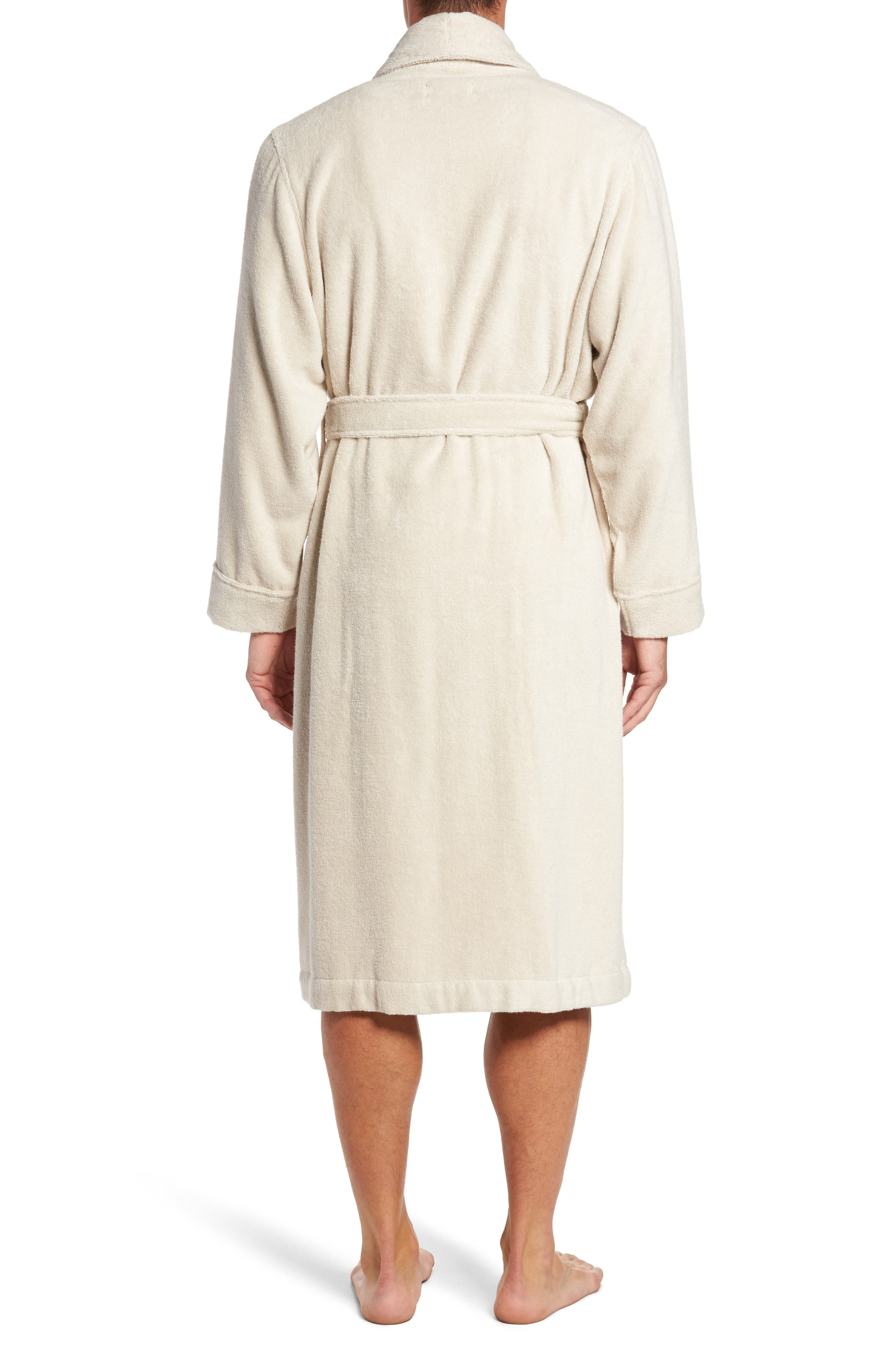 Hydro Cotton Terry Robe,                             Alternate thumbnail 2, color,                             Beige Oatmeal