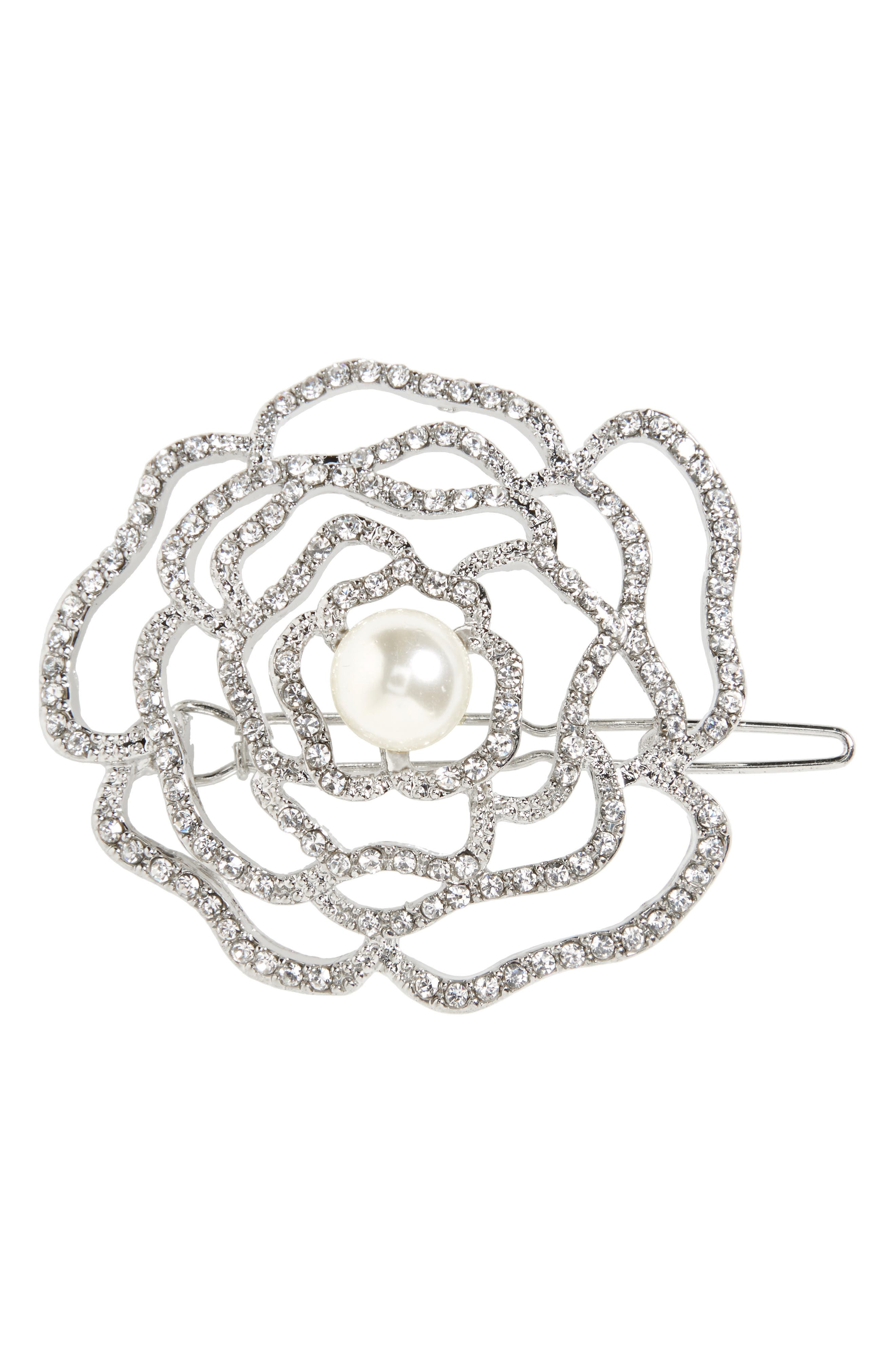 Alternate Image 1 Selected - Cara Crystal Rose Hair Clip