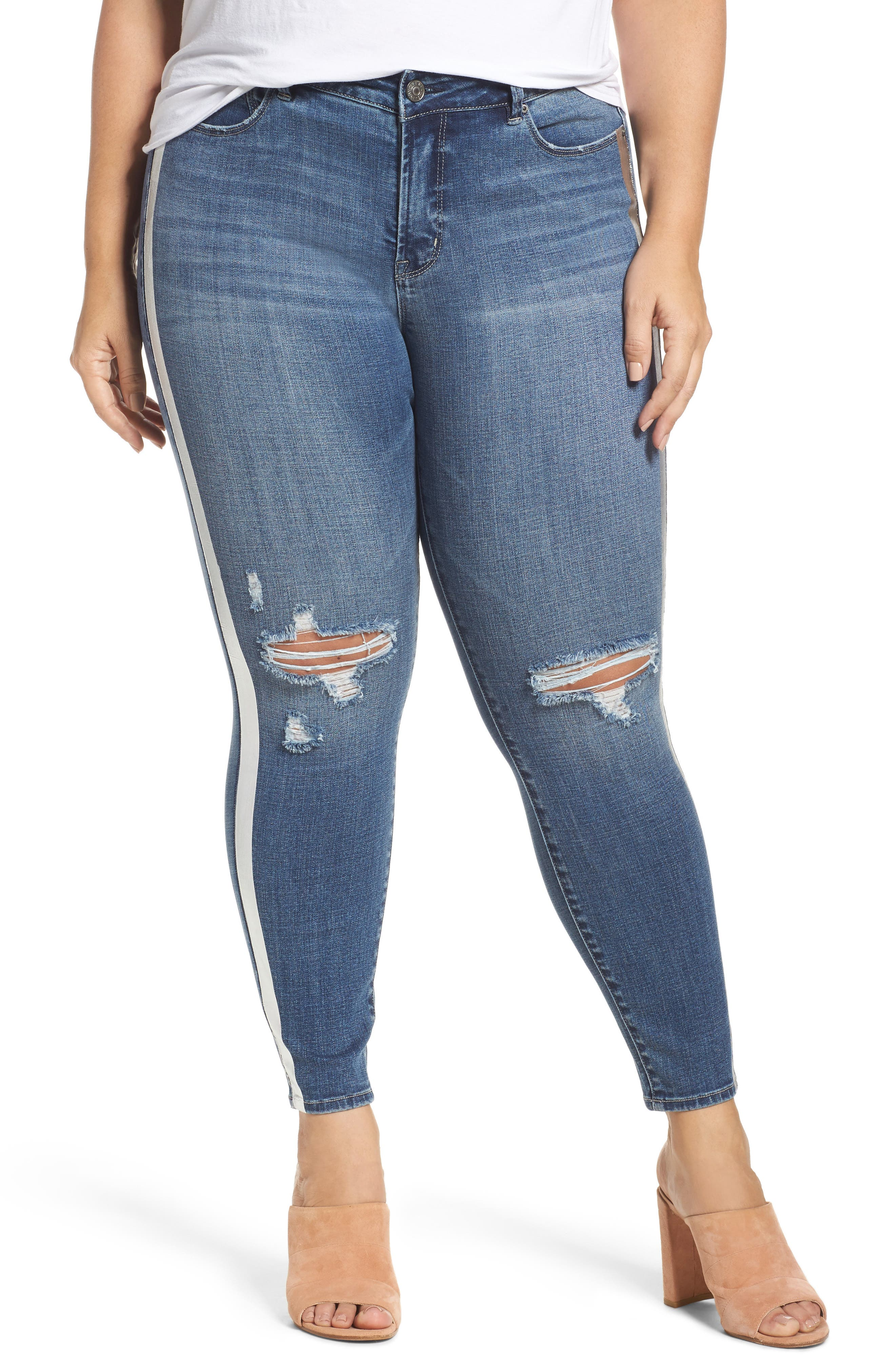 REBEL WILSON X ANGELS The Pin Up Ripped Ankle Jeans (Plus Size)