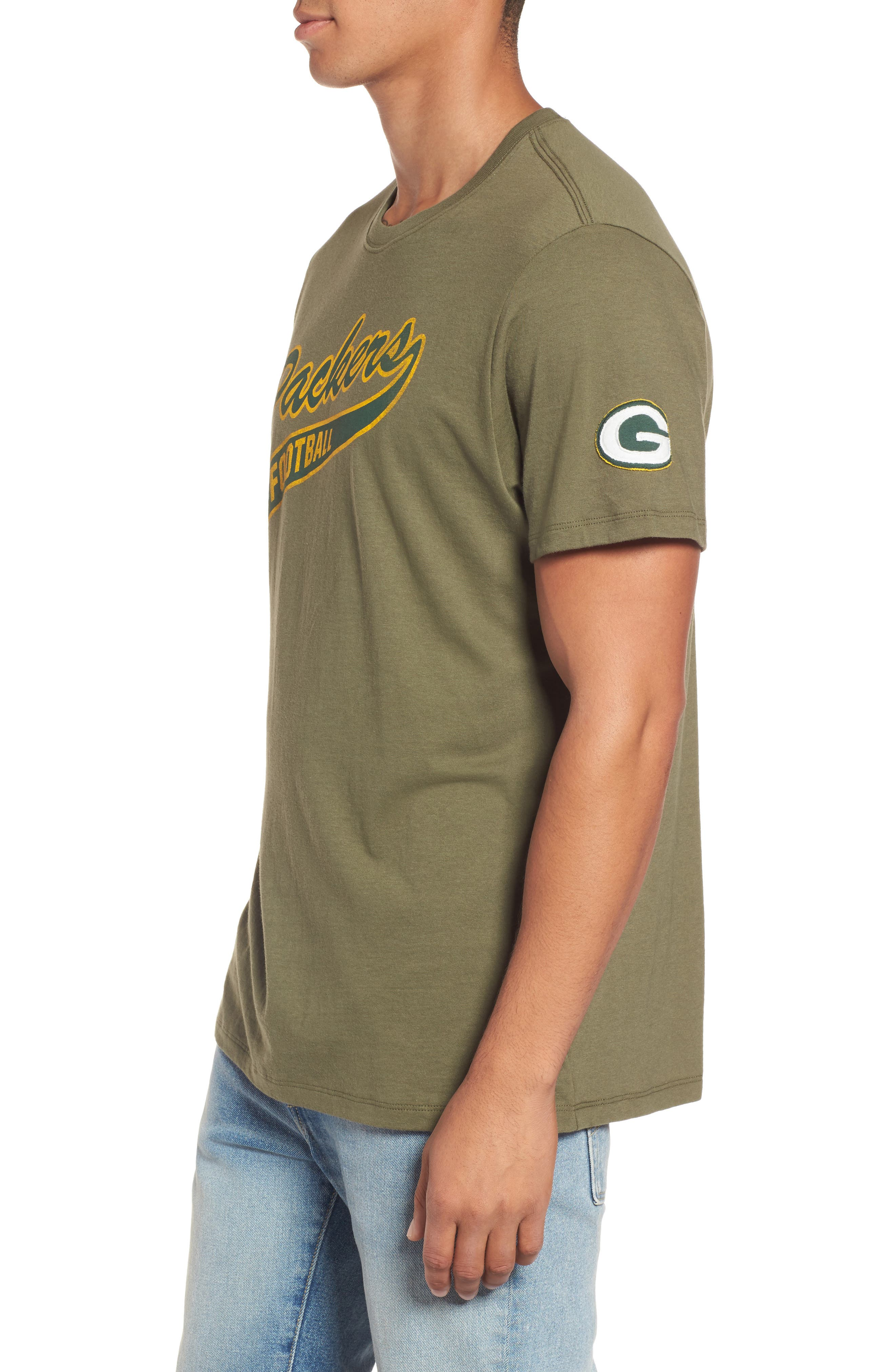 Green Bay Packers Borderland T-Shirt,                             Alternate thumbnail 3, color,                             Bright Green