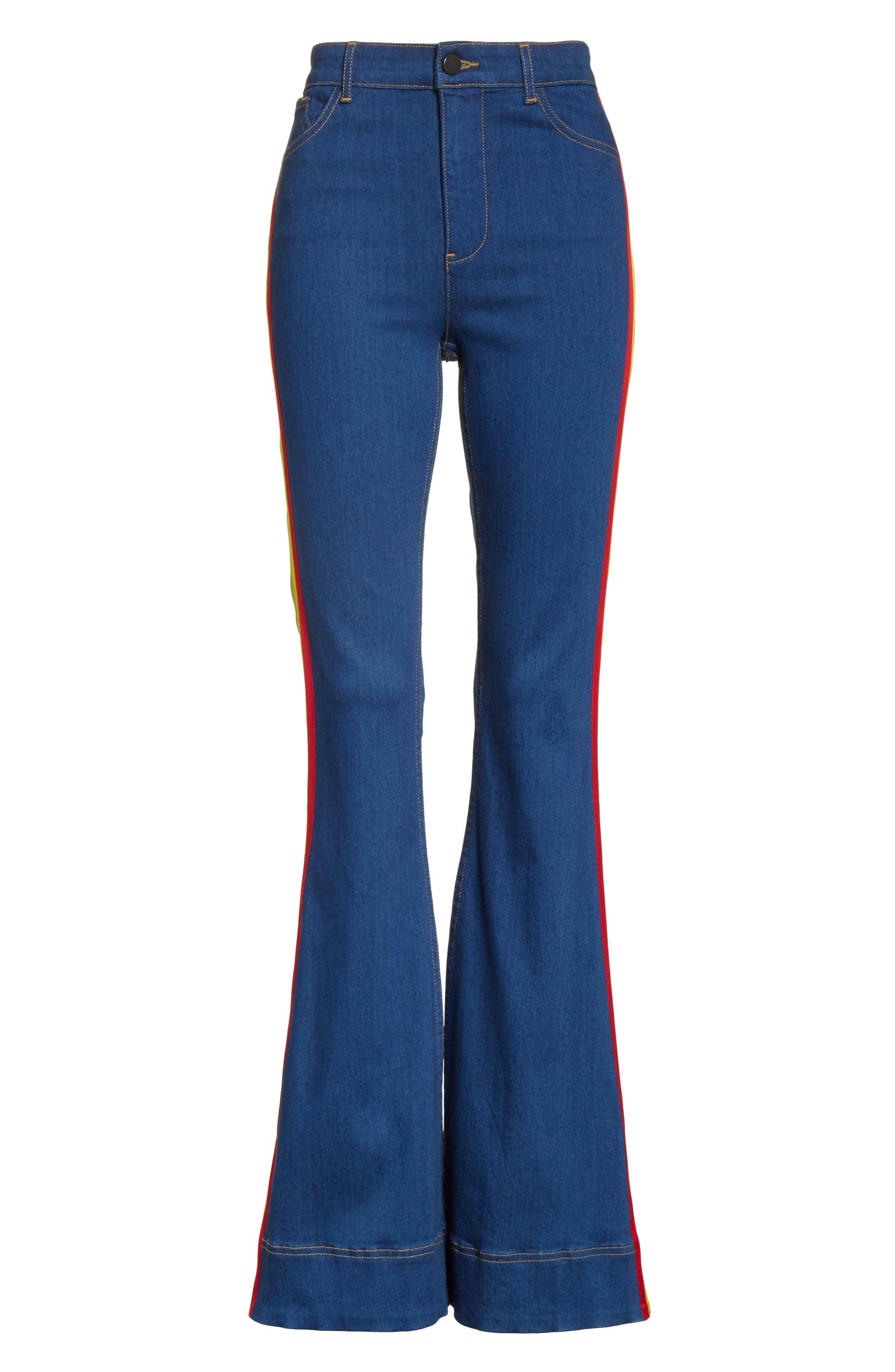 Alternate Image 6  - Alice + Olivia Kayleigh Bell Jeans