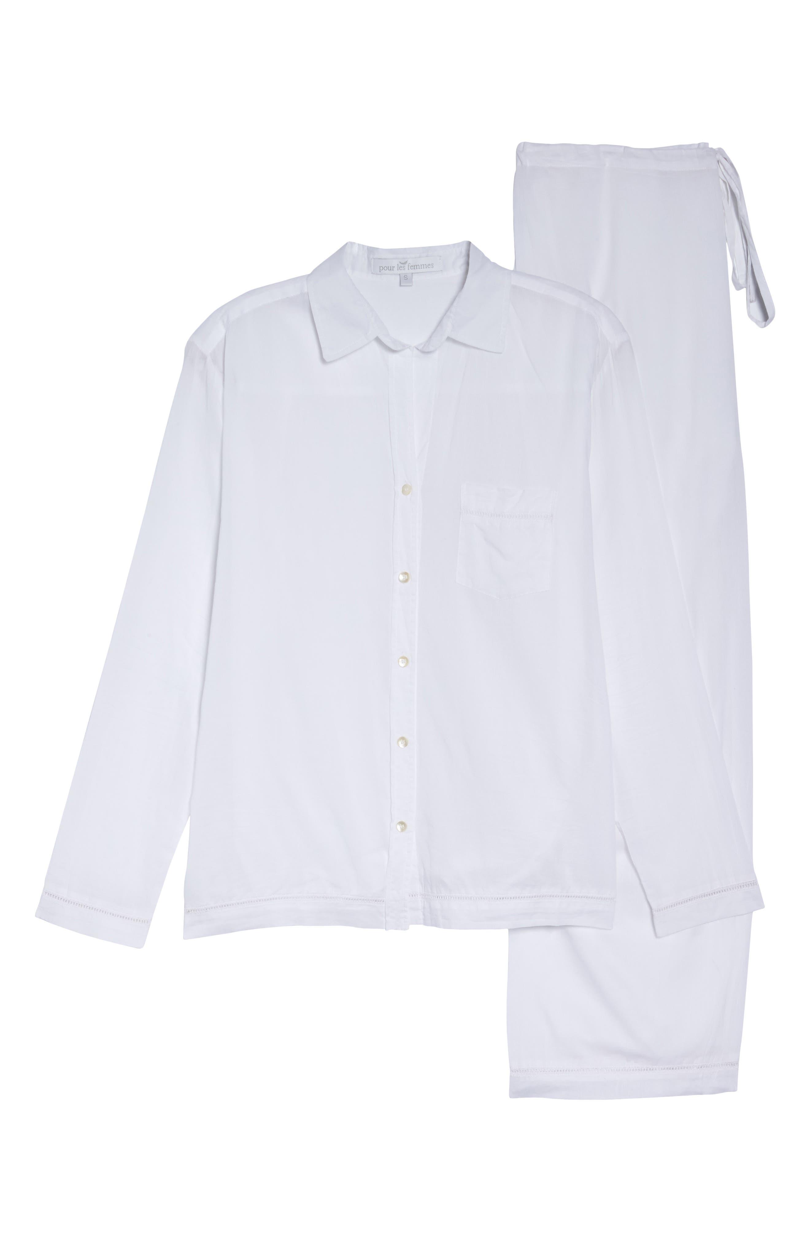 Alternate Image 4  - Pour Les Femmes Classic Pajamas