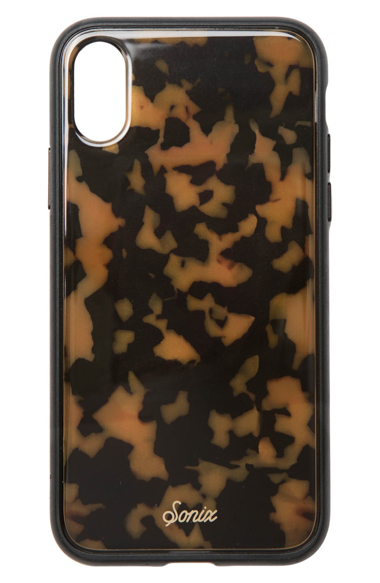 Tortoise Print iPhone X Case,                         Main,                         color, Brown Tortoise