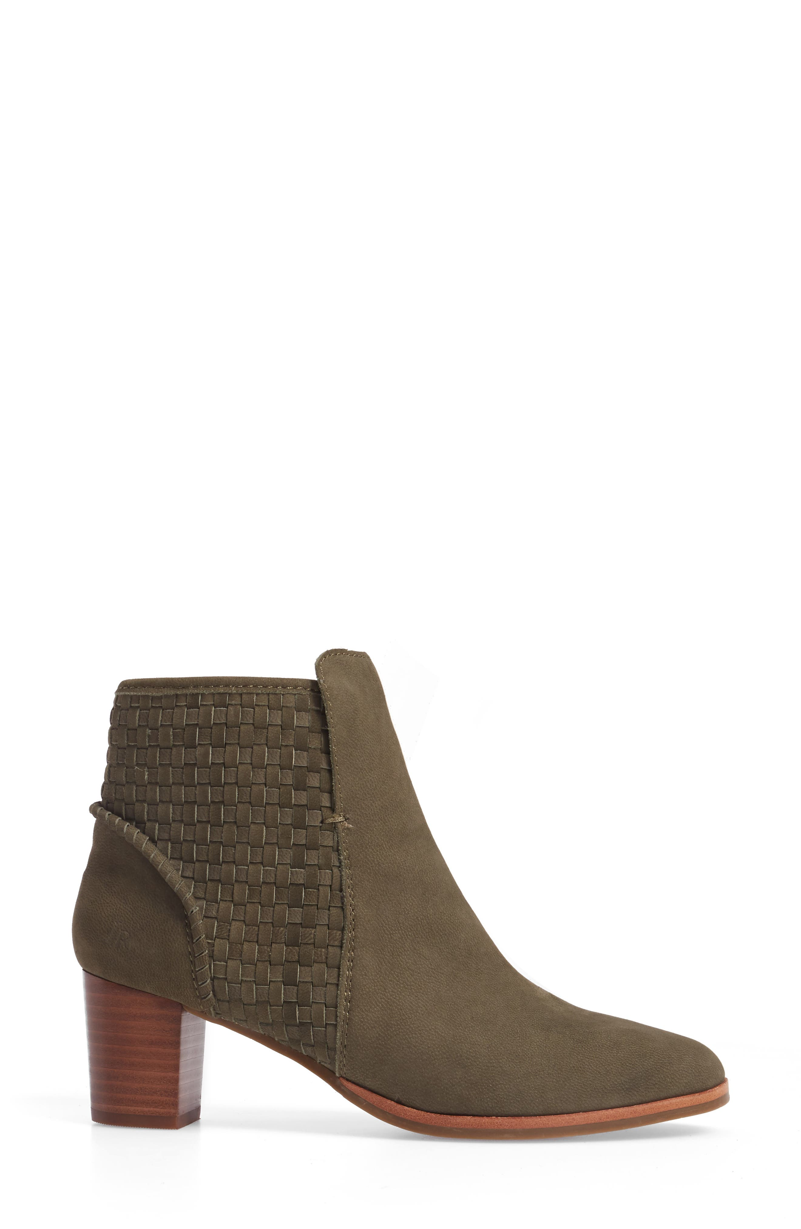 Deborah Bootie,                             Alternate thumbnail 3, color,                             Olive Leather