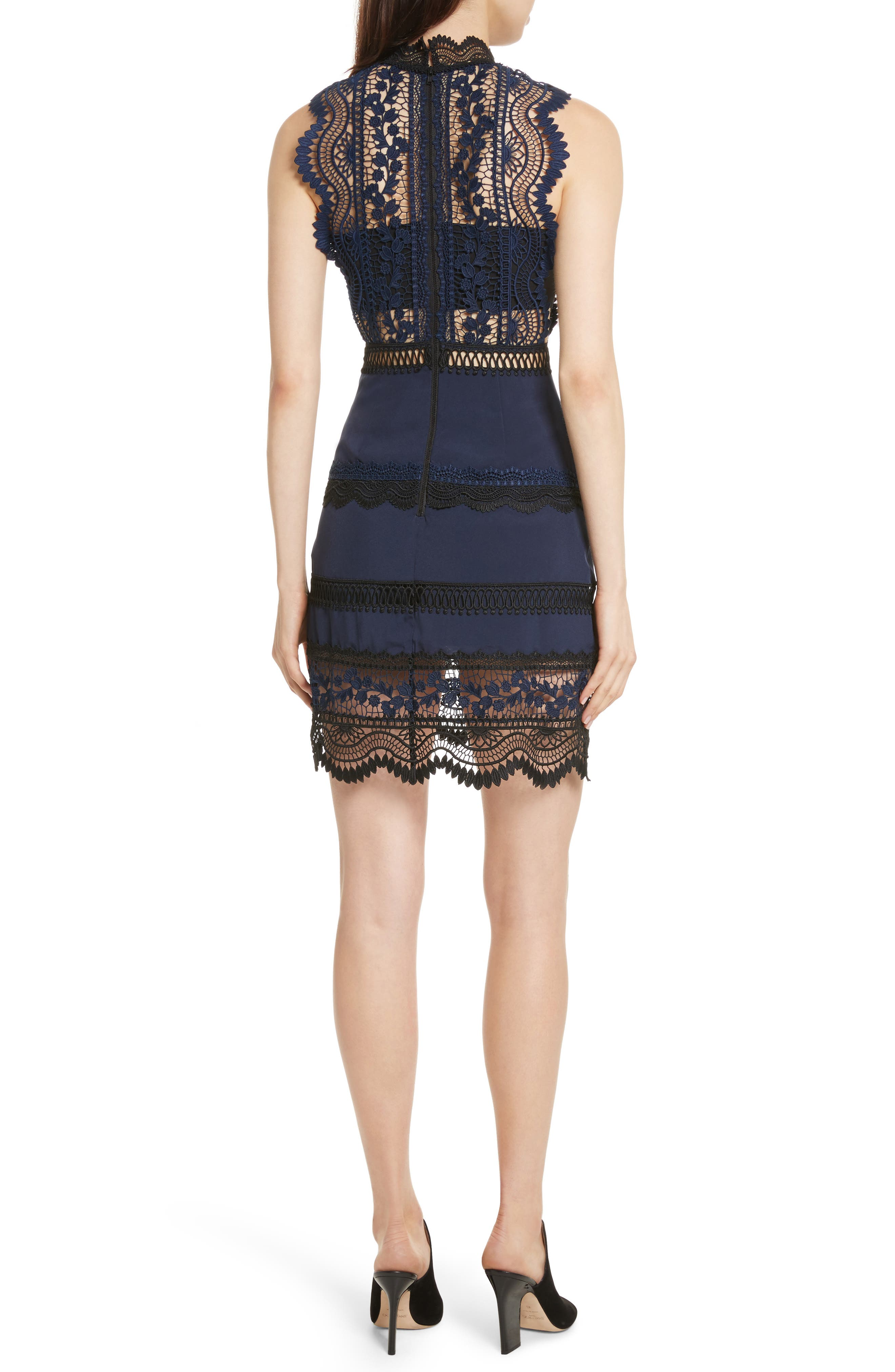 Bellis Lace Dress,                             Alternate thumbnail 2, color,                             Blue