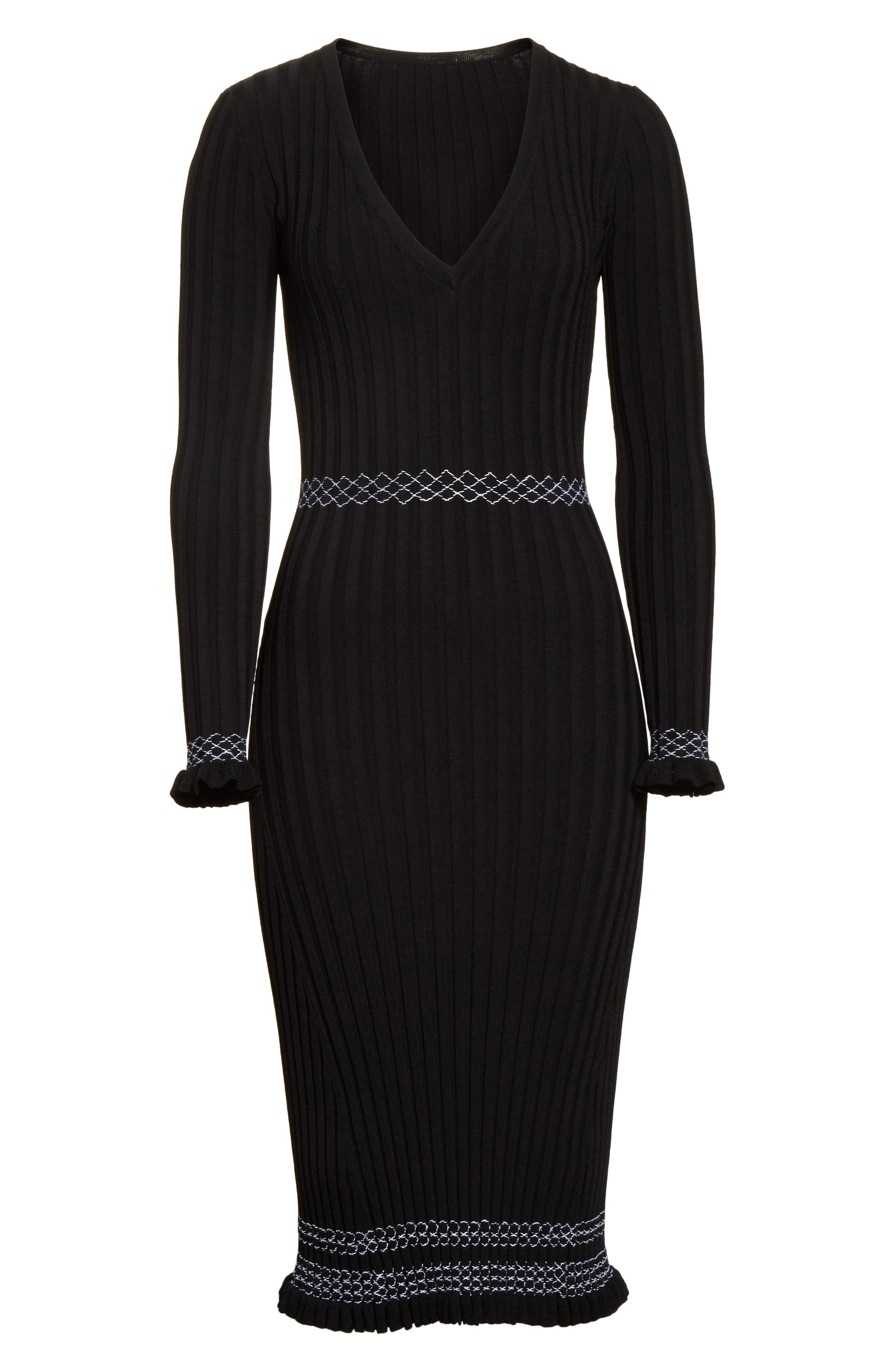 Alternate Image 6  - Altuzarra Ruffle Hem Knit Dress
