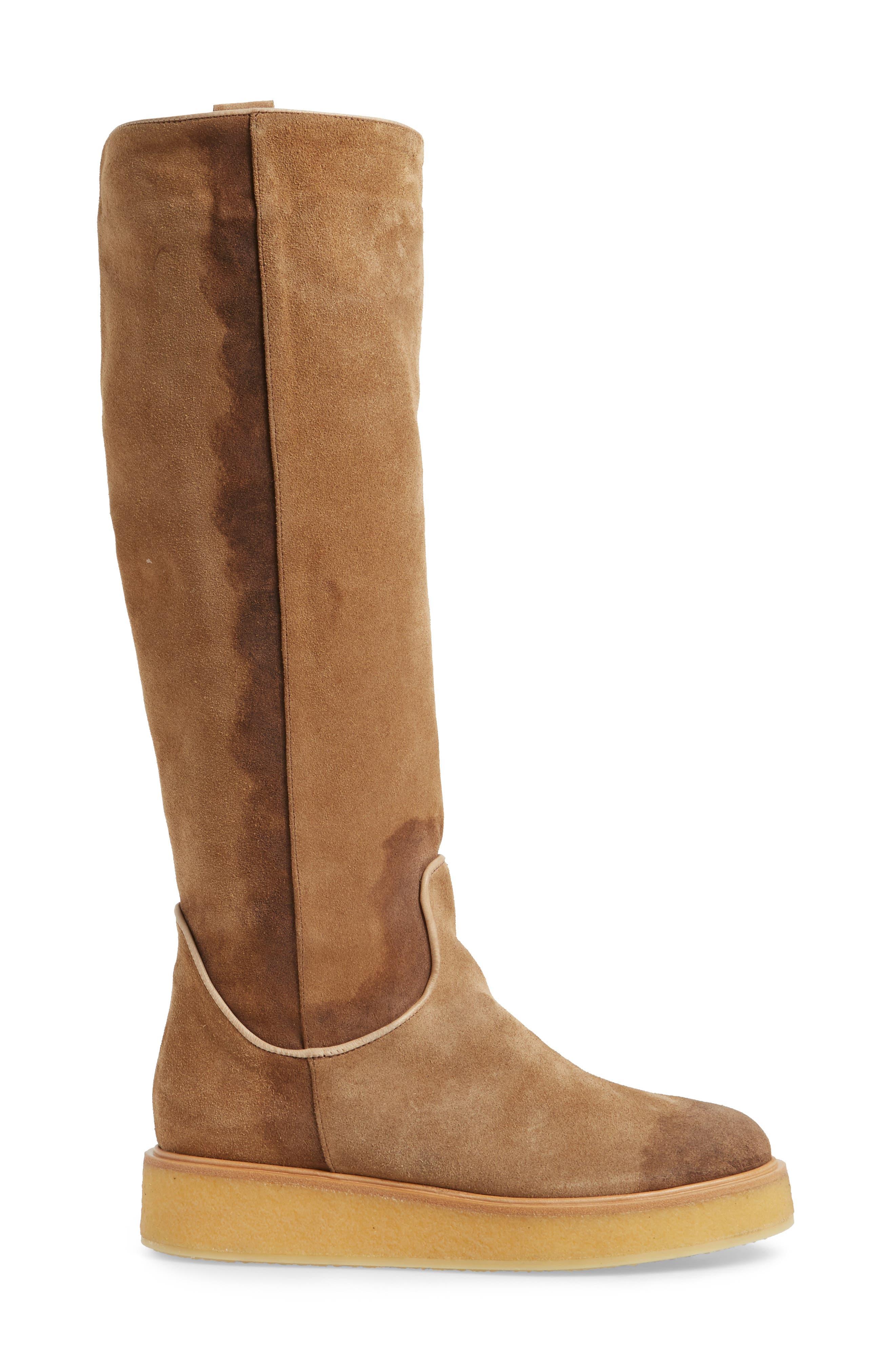 Nerola Knee High Boot,                             Alternate thumbnail 3, color,                             Sahara