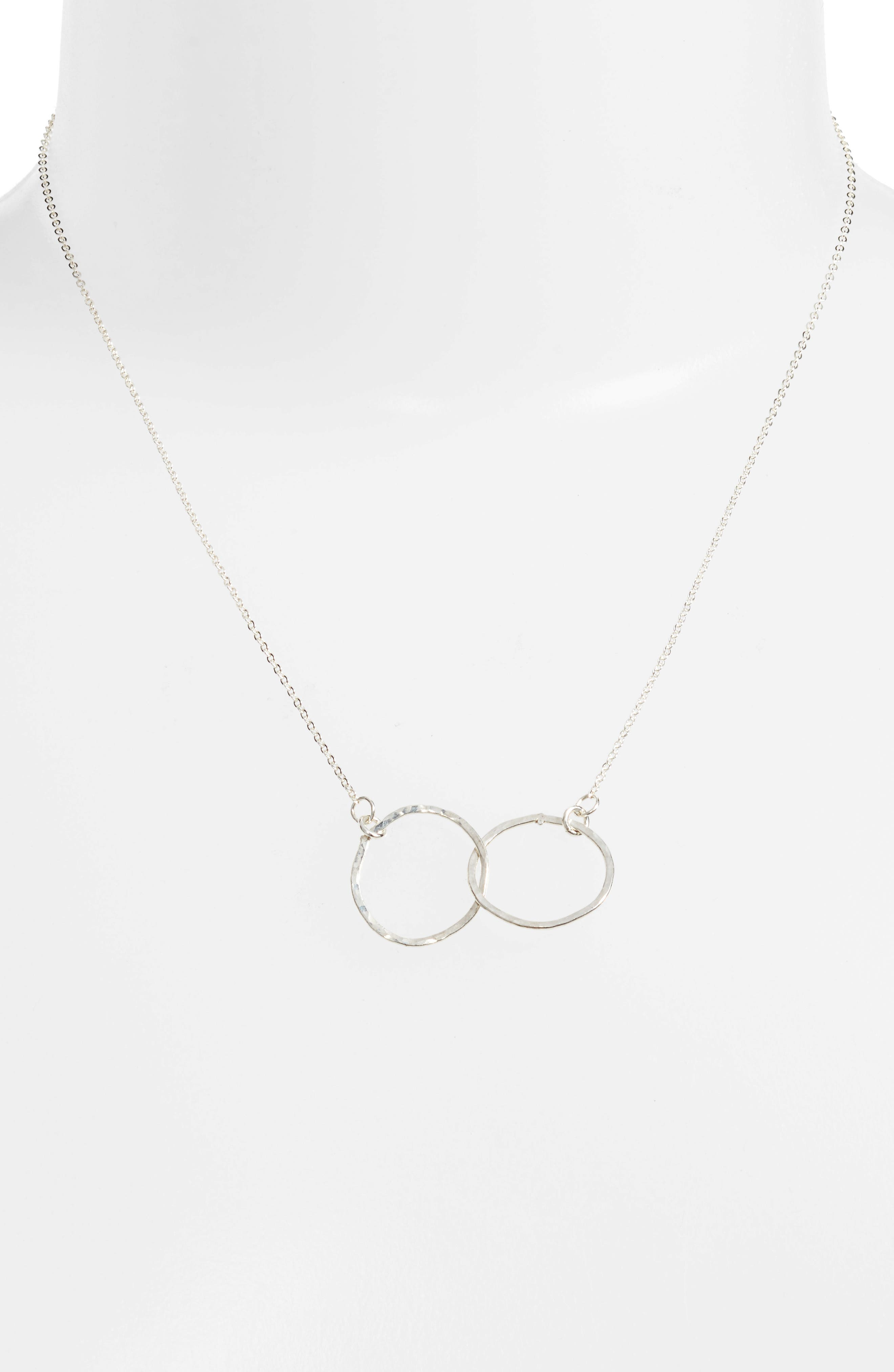 Lucky Eternity Necklace,                             Main thumbnail 1, color,                             Silver