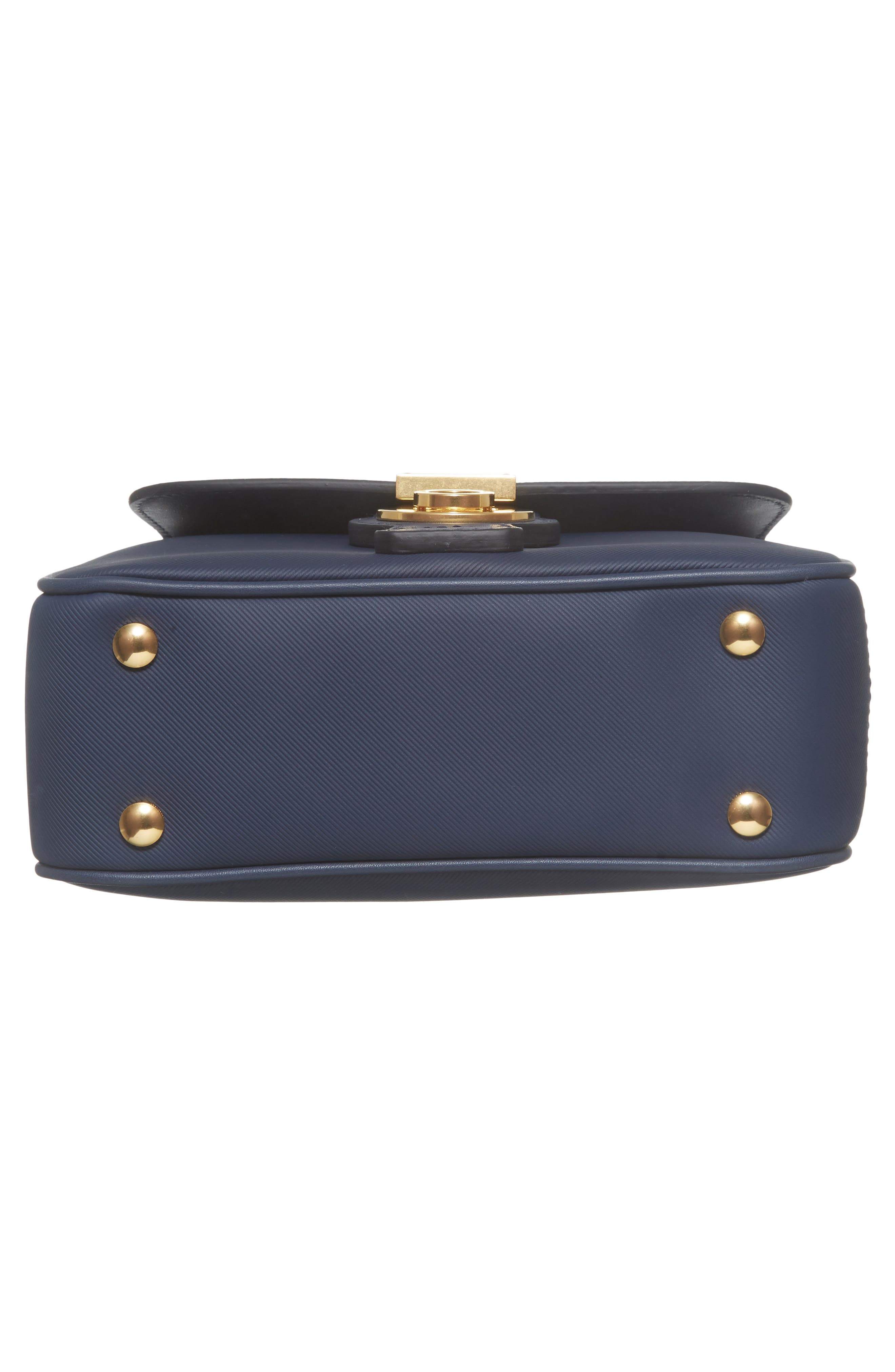 Medium DK88 Leather Satchel,                             Alternate thumbnail 4, color,                             Ink Blue