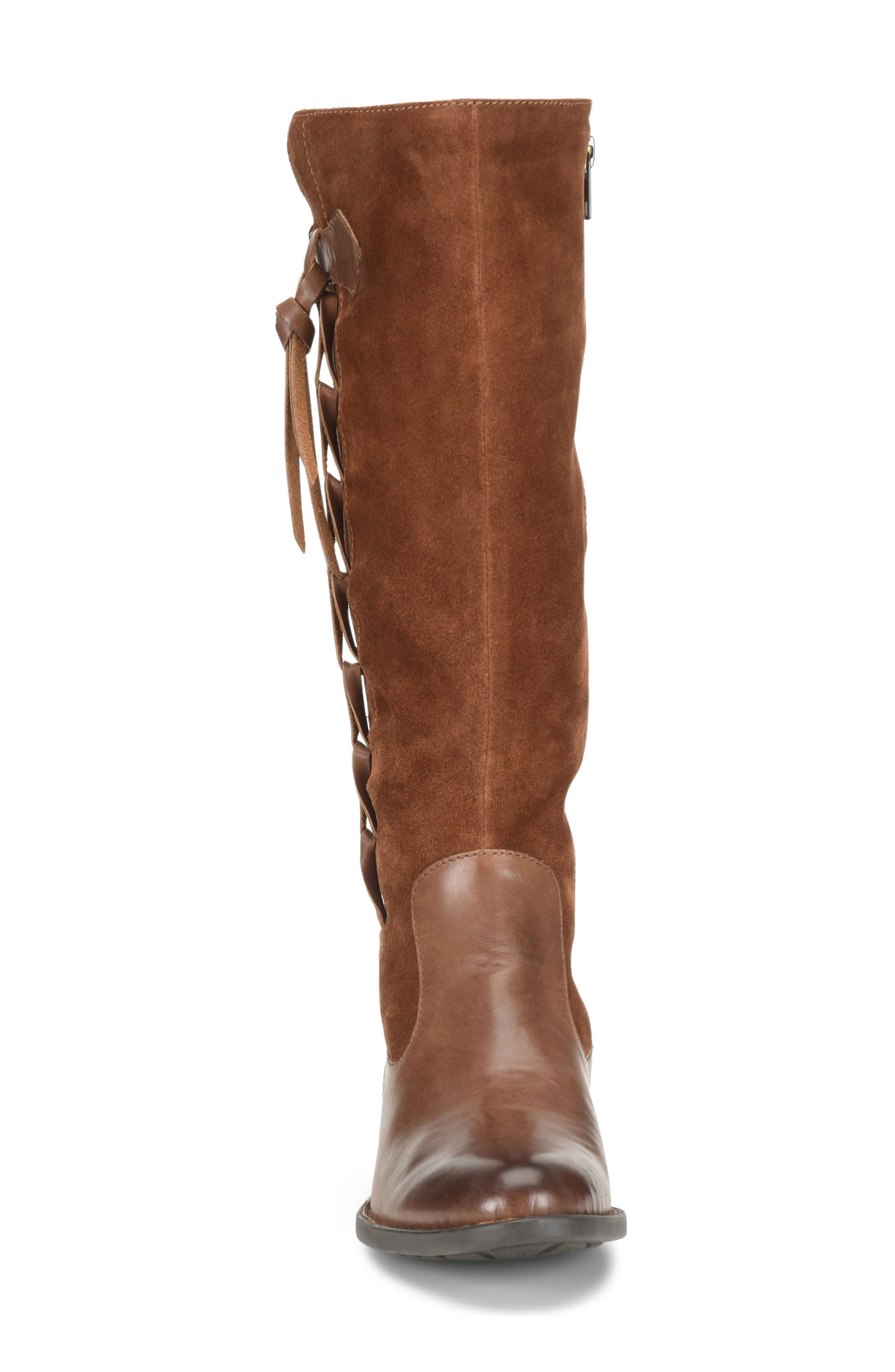 Cook Knee High Boot,                             Alternate thumbnail 4, color,                             Brown/ Rust Combo