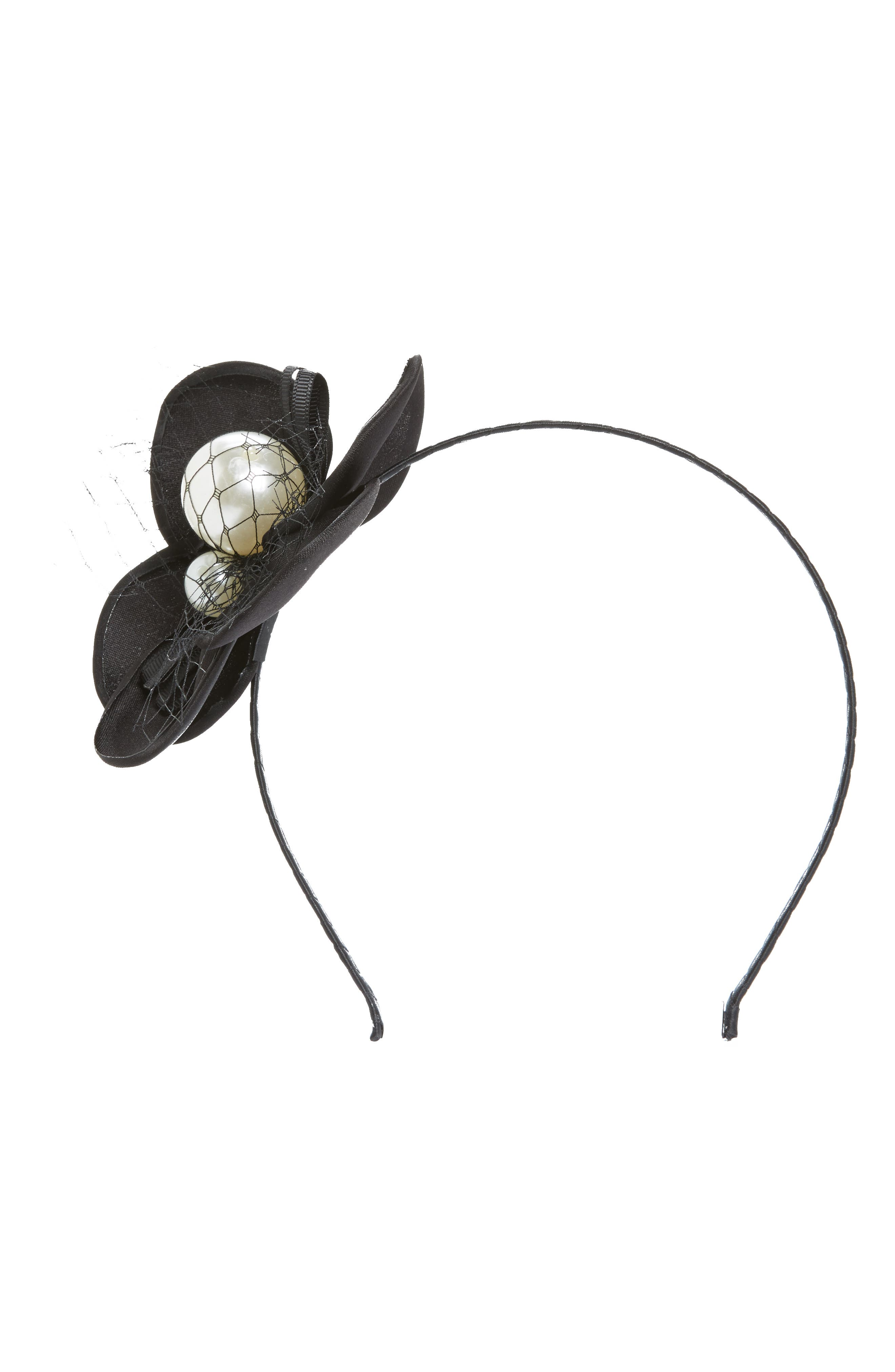 Alternate Image 1 Selected - Cara Imitation Pearl Flower Headband