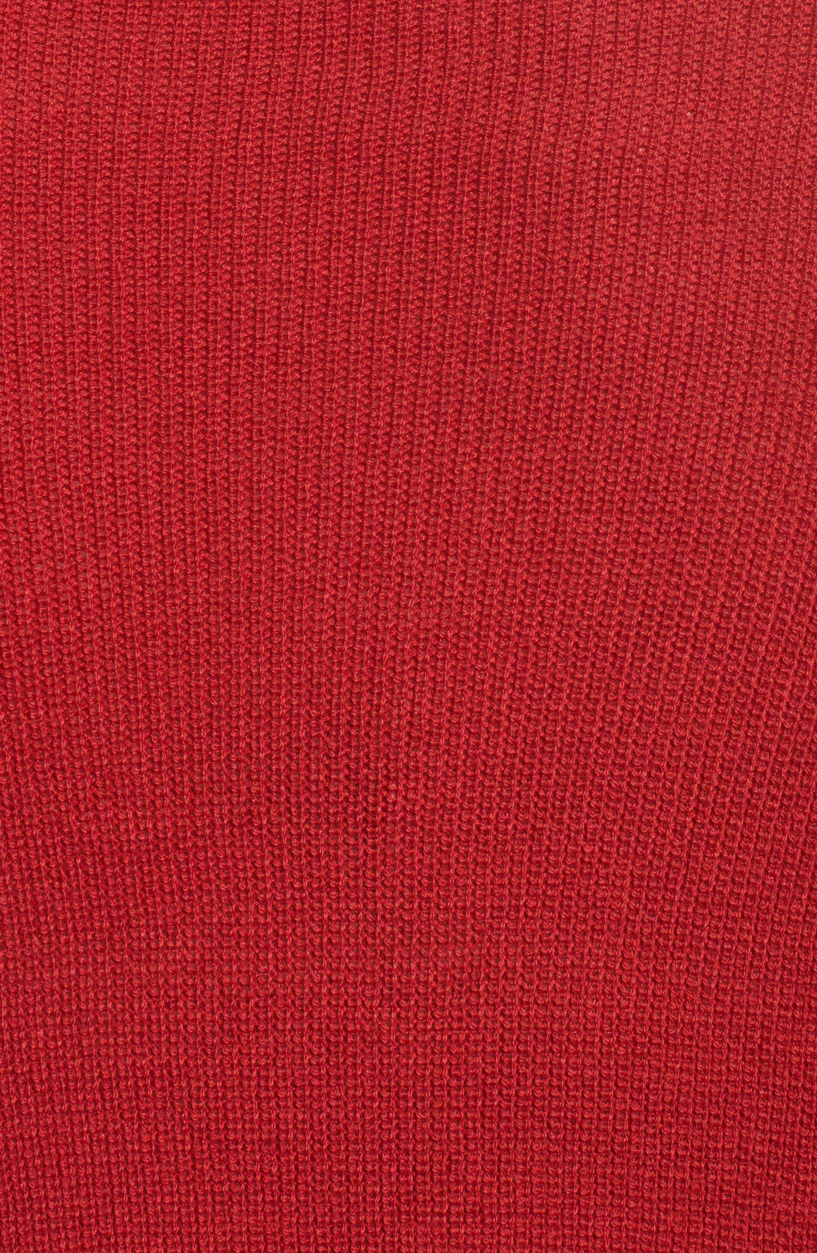 Cowl Neck Ribbed Trim Pullover,                             Alternate thumbnail 5, color,                             Red Sage