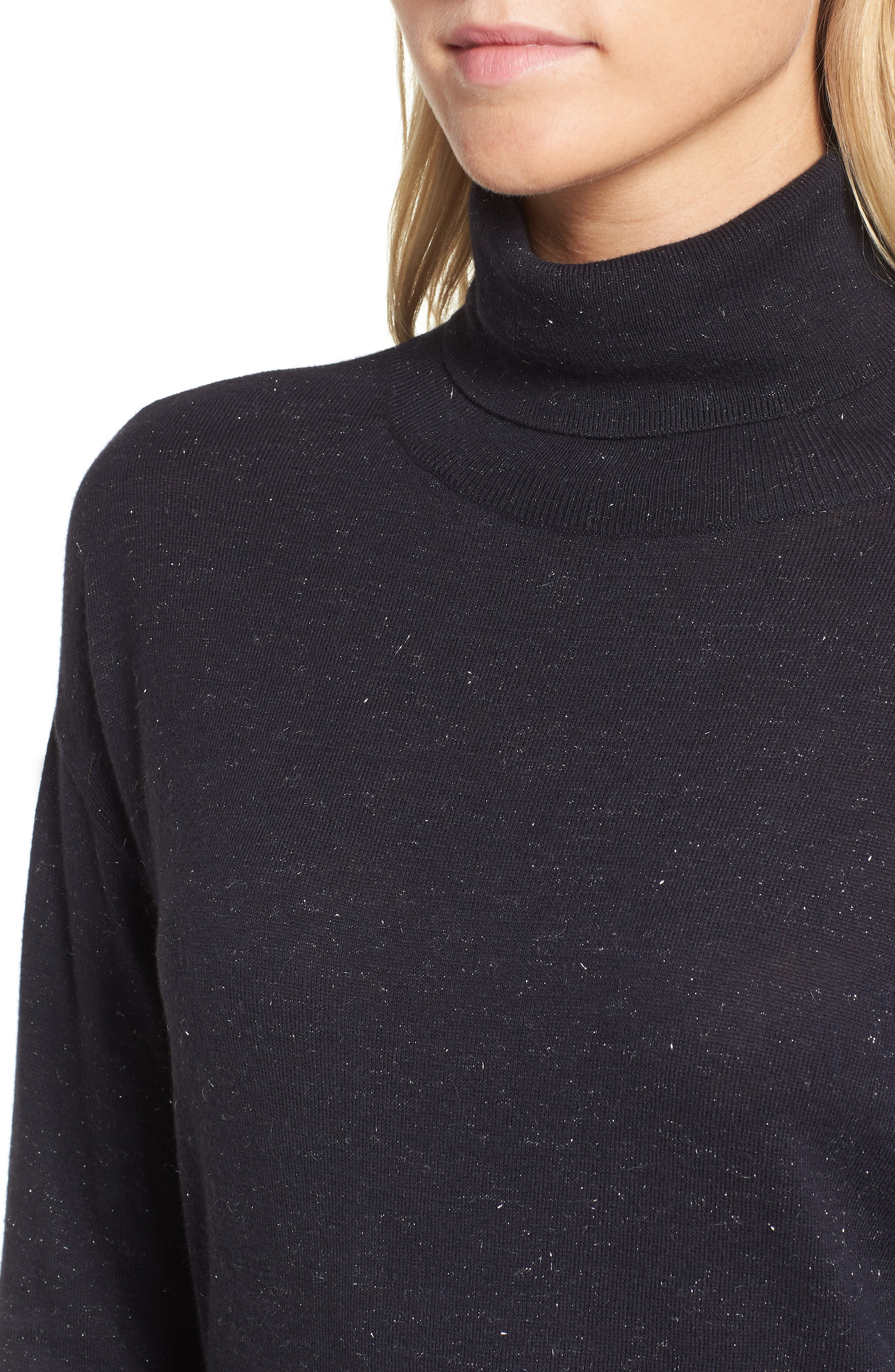 Open Back Sweater,                             Alternate thumbnail 4, color,                             Navy Well