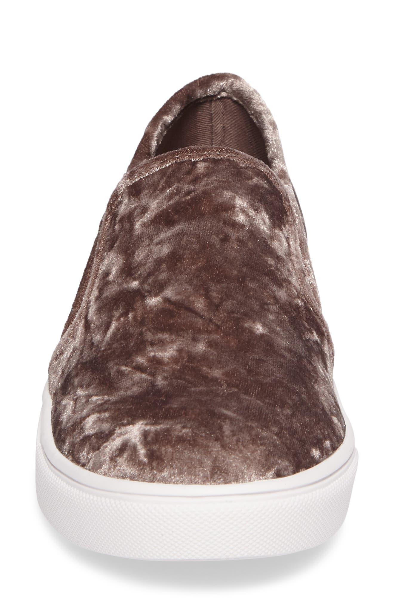 Ecntrcv Slip-On Sneaker,                             Alternate thumbnail 4, color,                             Mushroom Fabric
