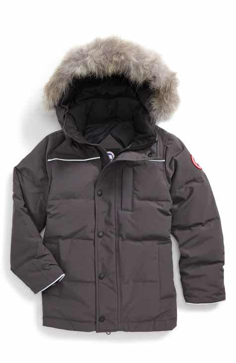 77d21bad004 Canada Goose Eakin Genuine Coyote Fur Trim Down Parka (Little Boys & Big  Boys)