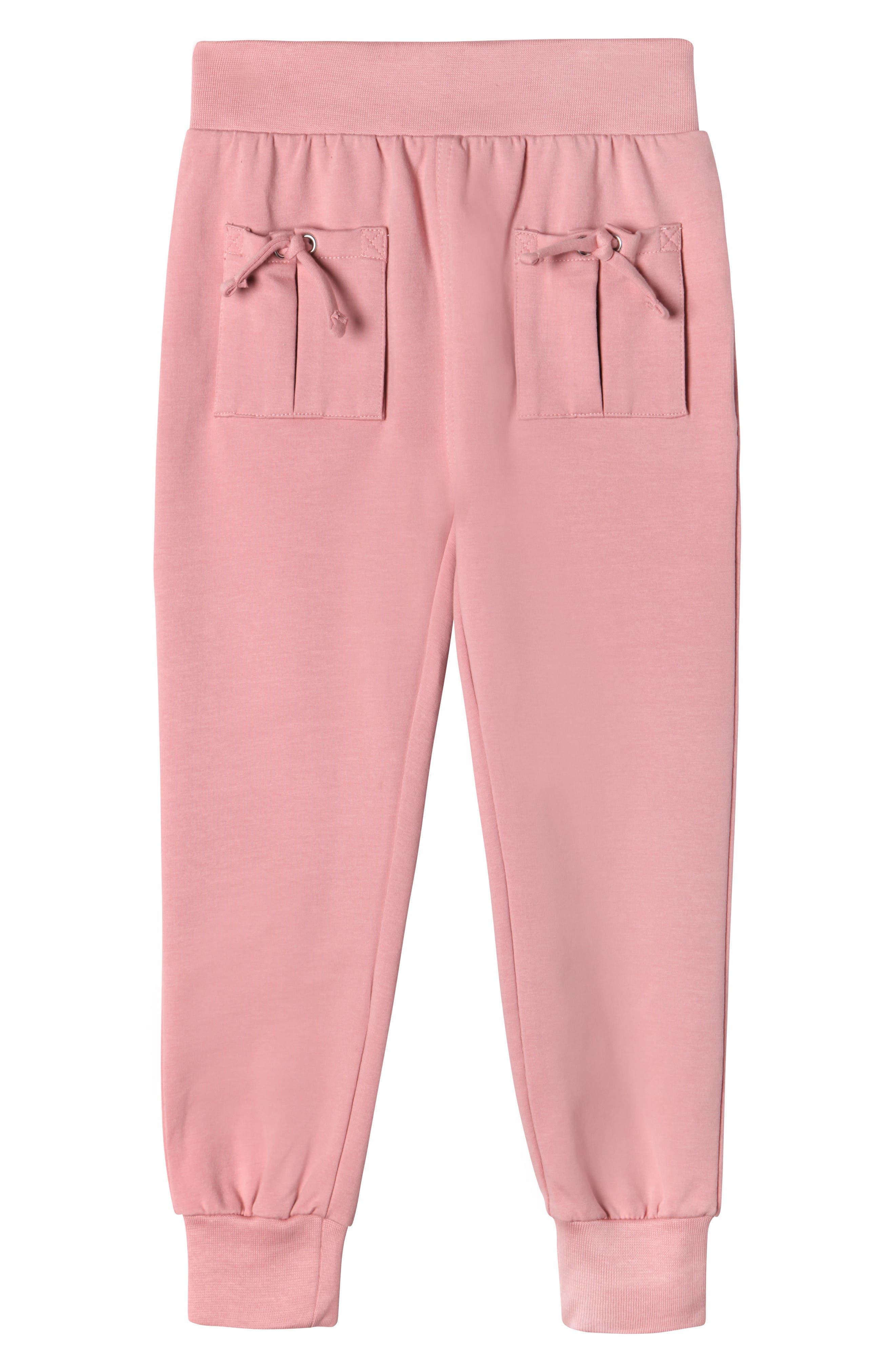 Aubrey Tie Pocket Sweatpants,                             Main thumbnail 1, color,                             Rose