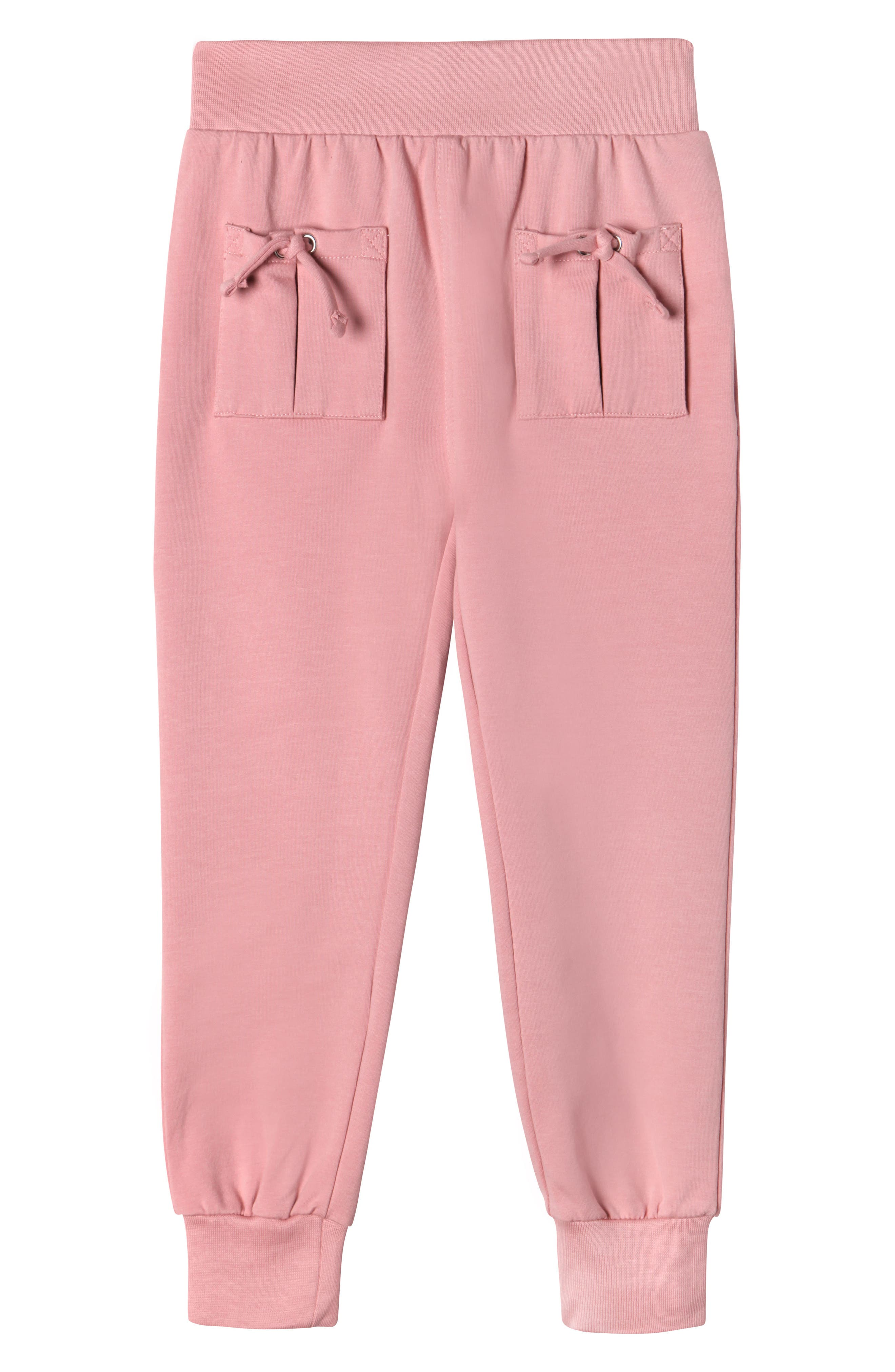Main Image - Art & Eden Aubrey Tie Pocket Sweatpants (Toddler Girls & Little Girls)