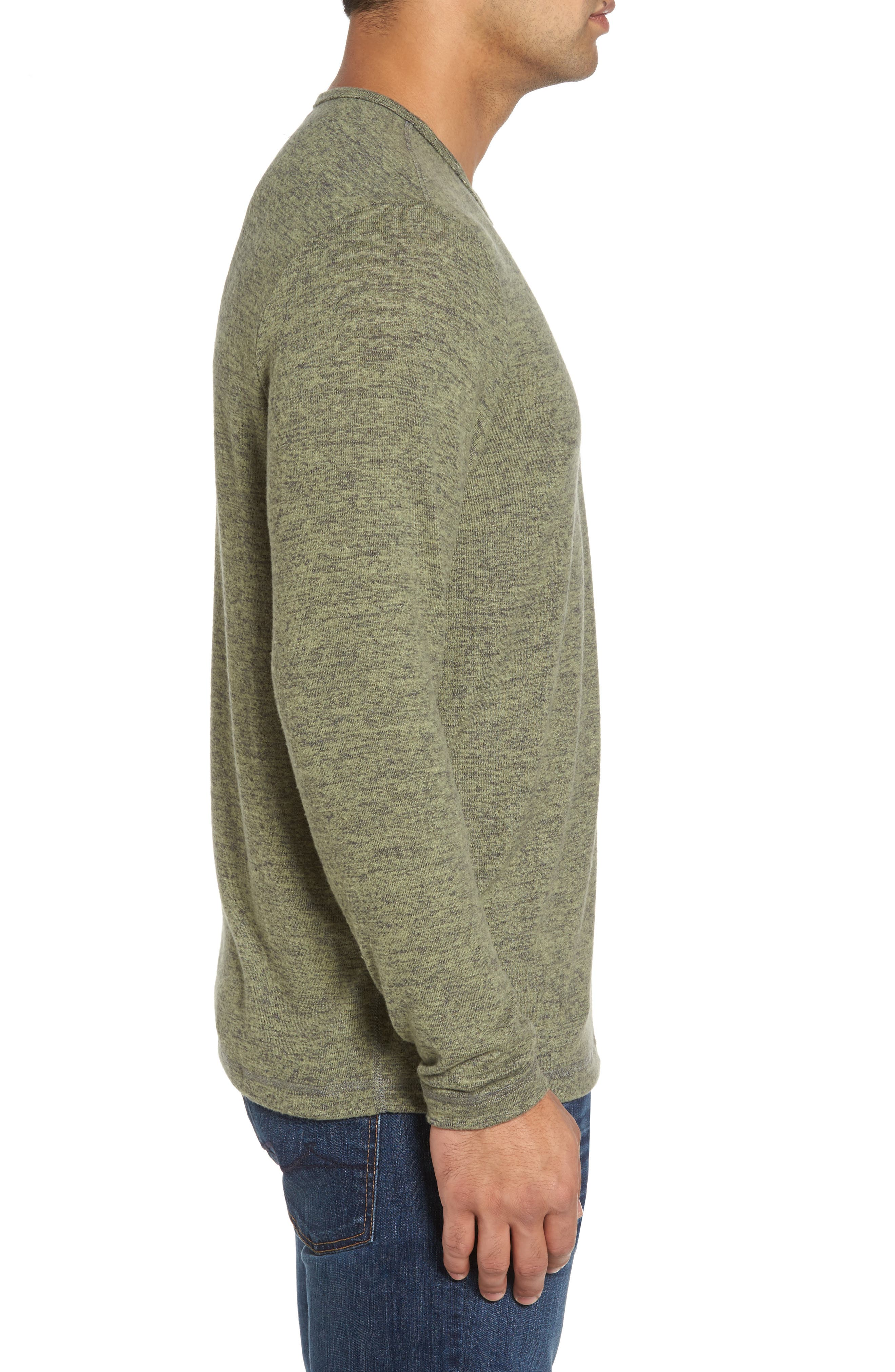 'Leeward' V-Neck Long Sleeve T-Shirt,                             Alternate thumbnail 3, color,                             Duty Tyme Heather