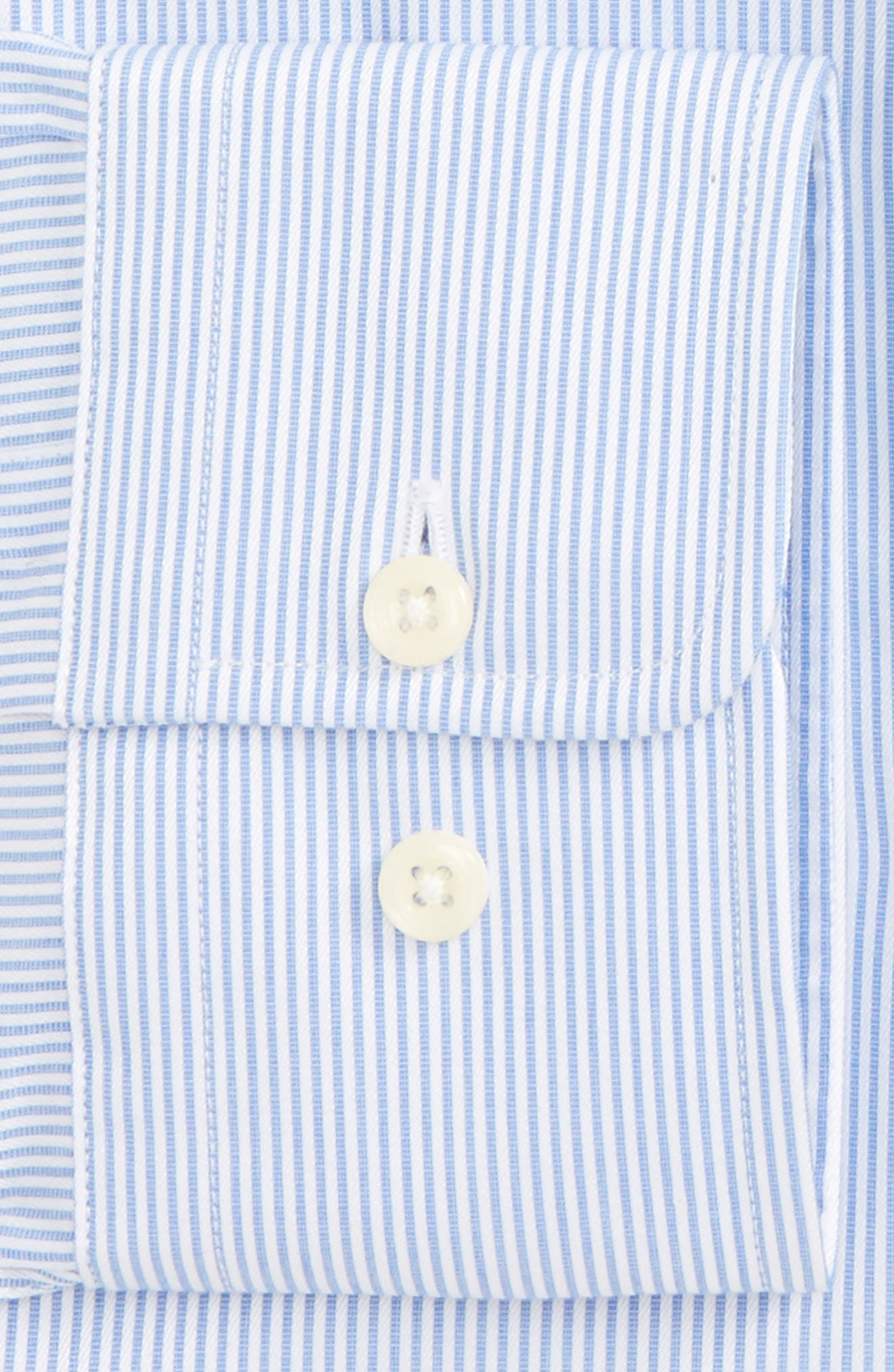 Slim Fit Stripe Dress Shirt,                             Alternate thumbnail 2, color,                             Blue