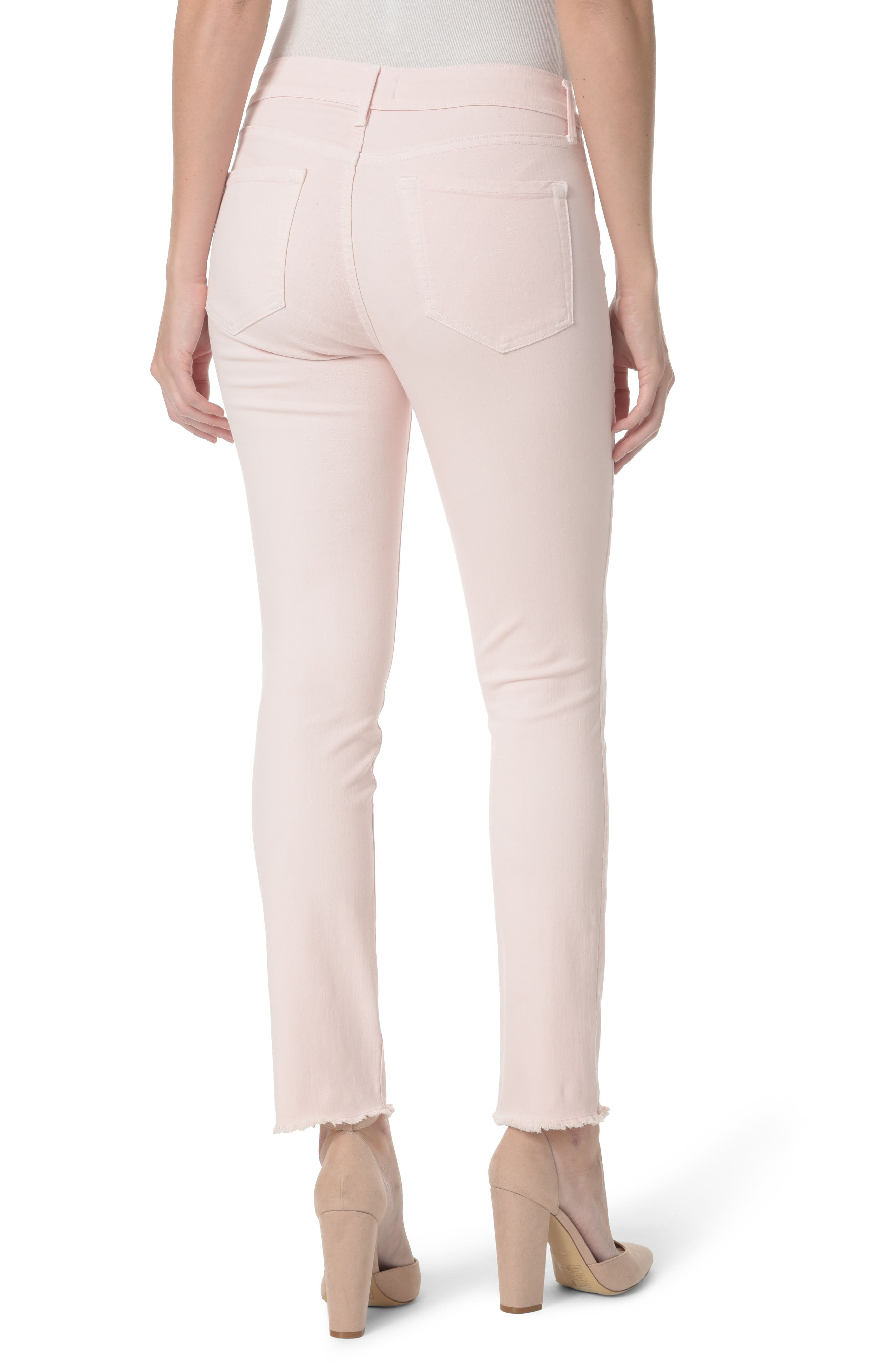 Alternate Image 2  - NYDJ Sheri Frayed Hem Stretch Slim Ankle Jeans