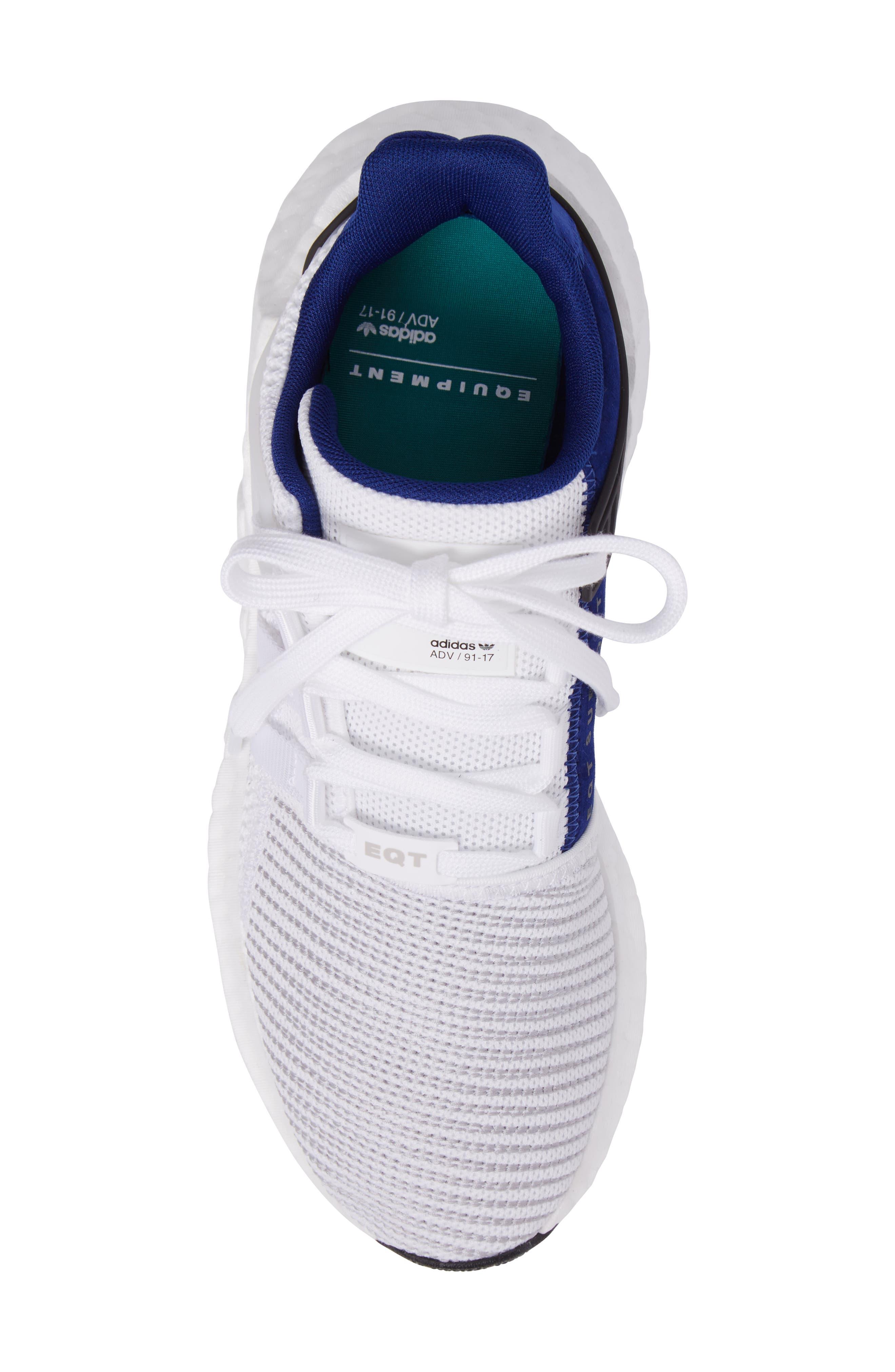 EQT Support 93/17 Sneaker,                             Alternate thumbnail 5, color,                             White/ White/ Core Black