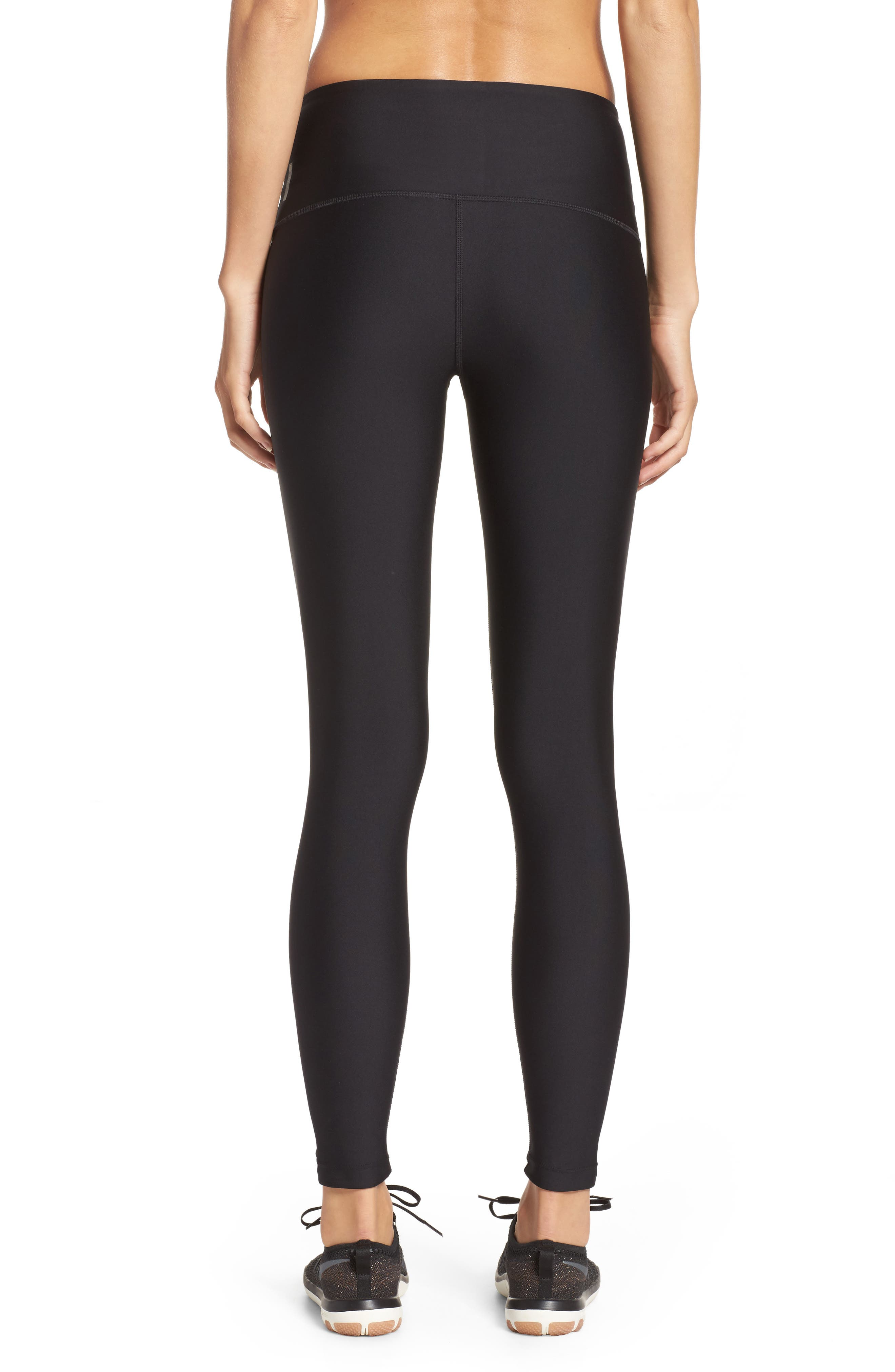 Alternate Image 2  - Zella High Waist Lace-Up Ankle Leggings