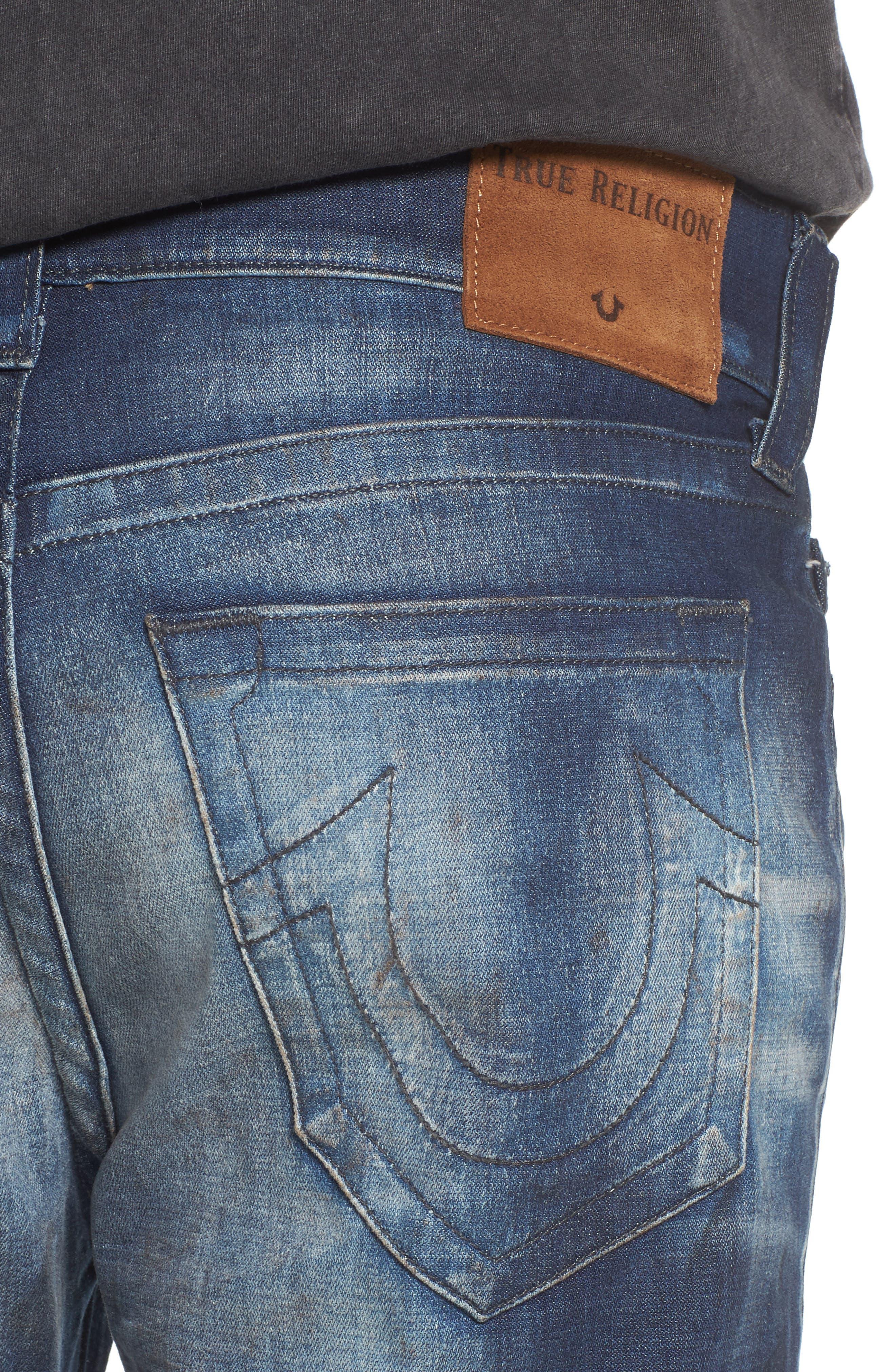 Rocco Skinny Fit Jeans,                             Alternate thumbnail 4, color,                             Loft Edge