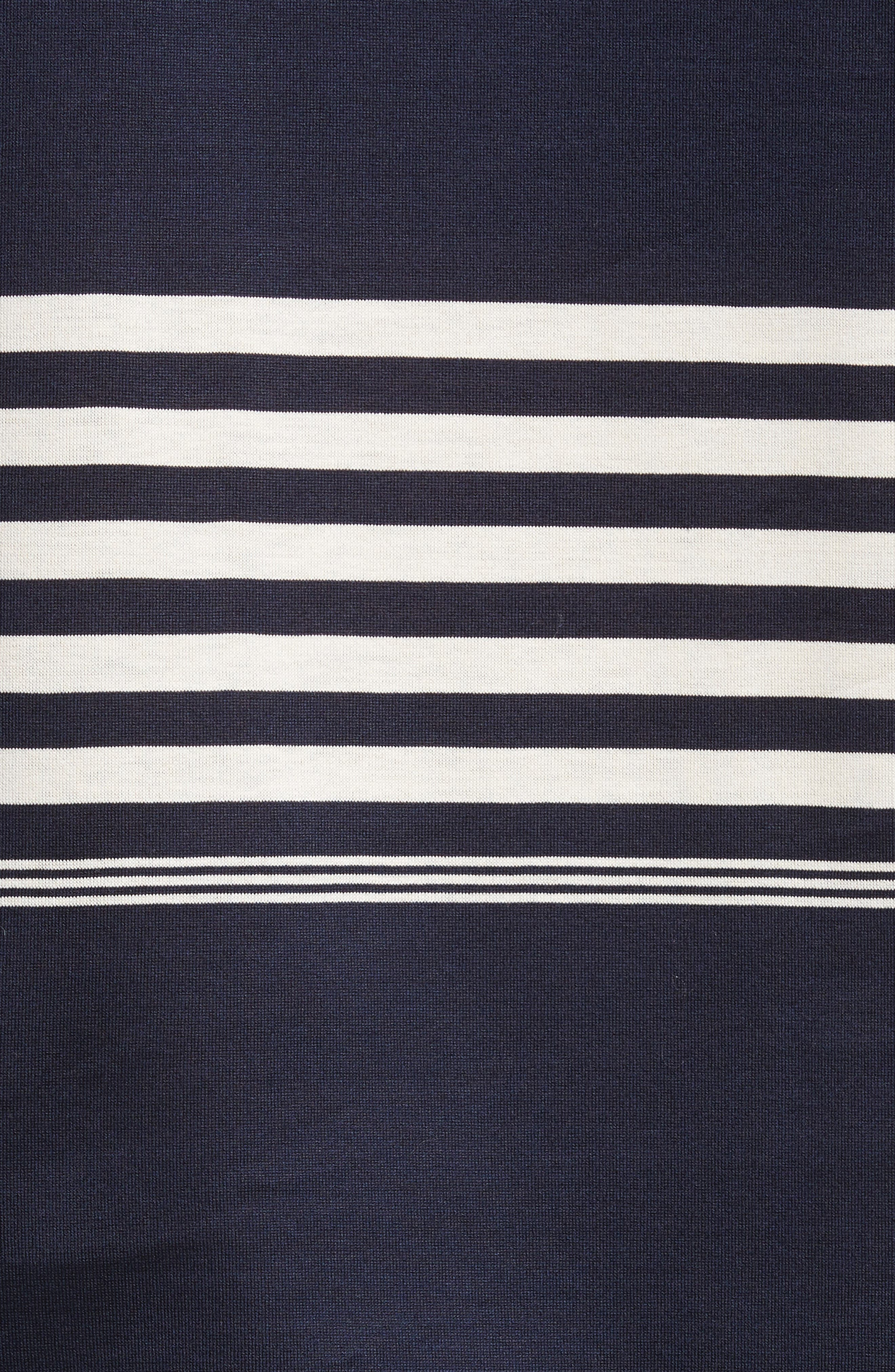 Stripe Long Sleeve T-Shirt,                             Alternate thumbnail 5, color,                             Navy