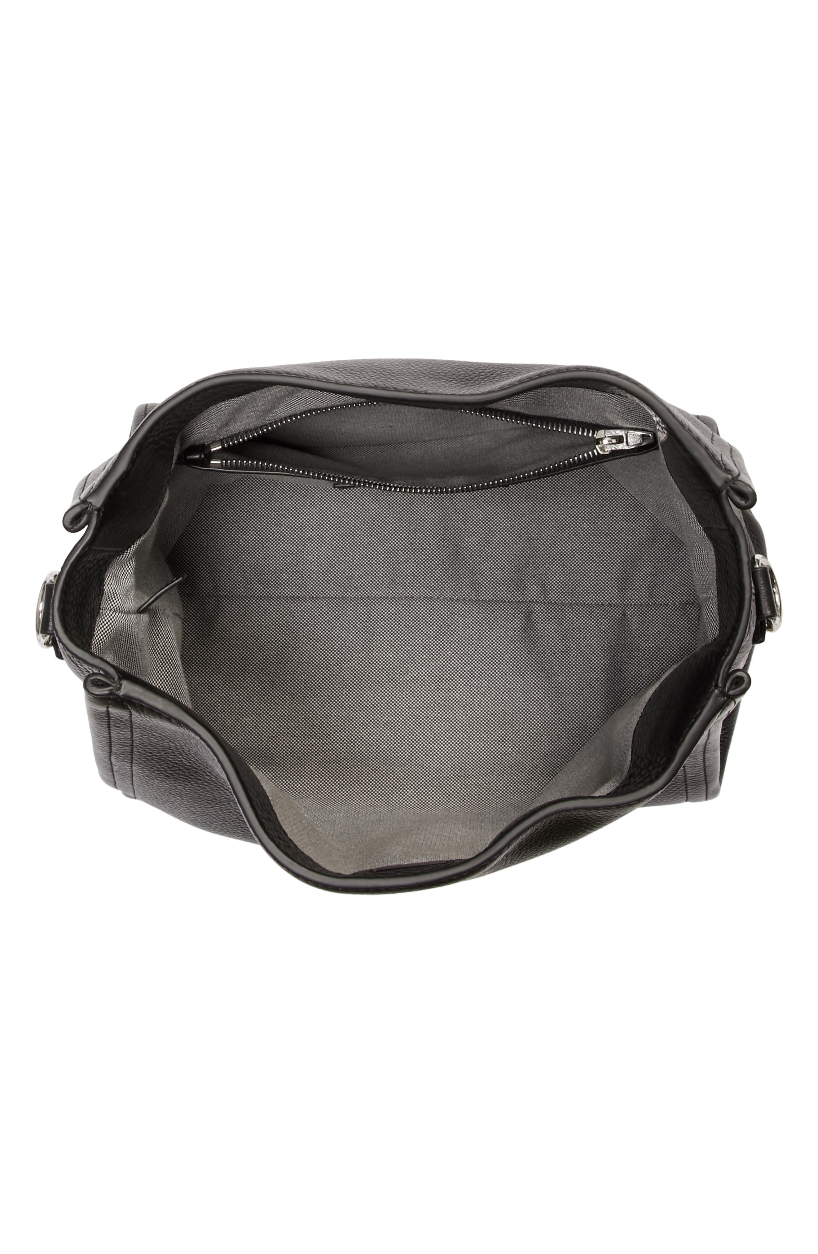 Darcy Leather Hobo,                             Alternate thumbnail 4, color,                             Black