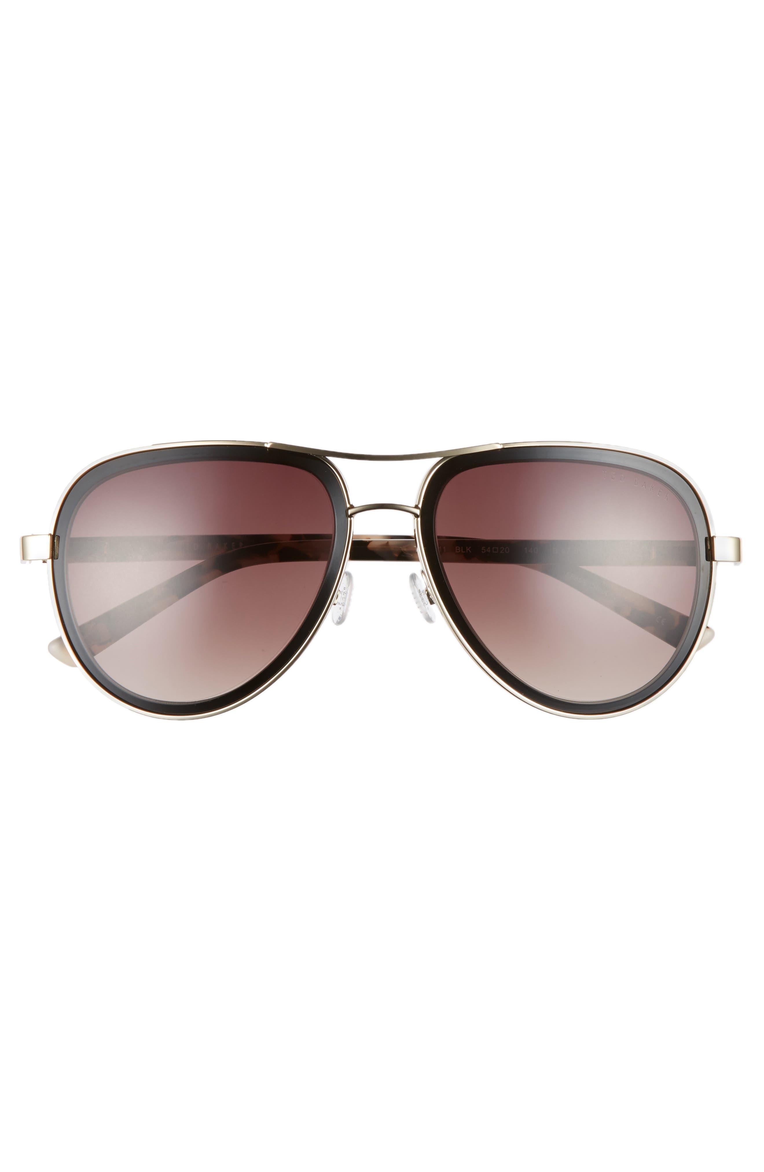 Alternate Image 3  - Ted Baker London 54mm Aviator Sunglasses