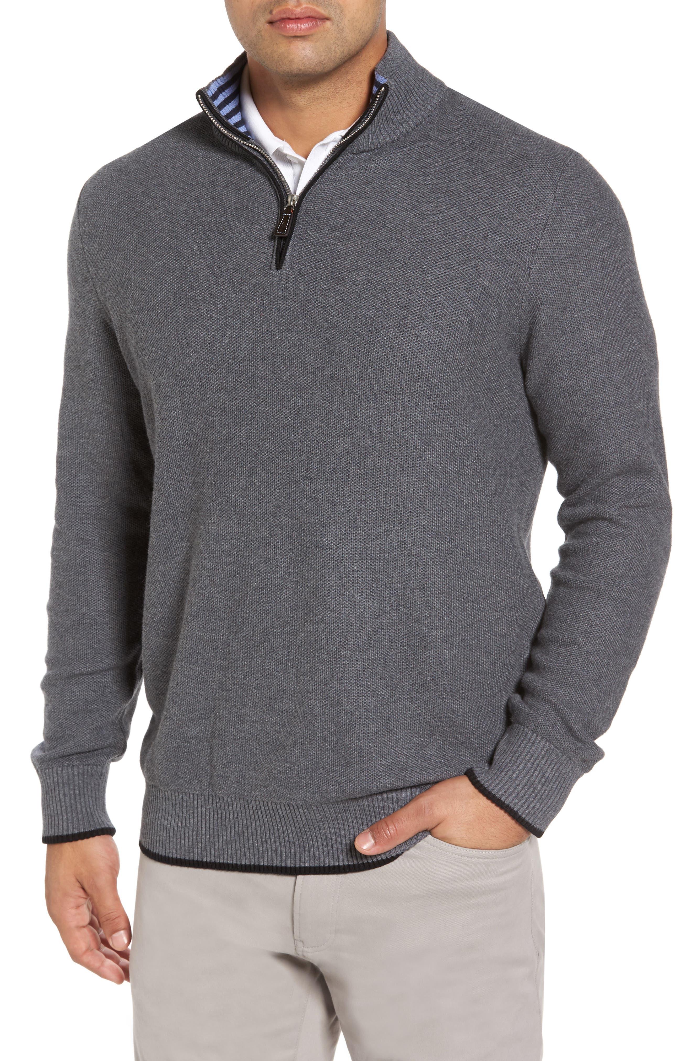 Main Image - TailorByrd Kinder Quarter Zip Pullover