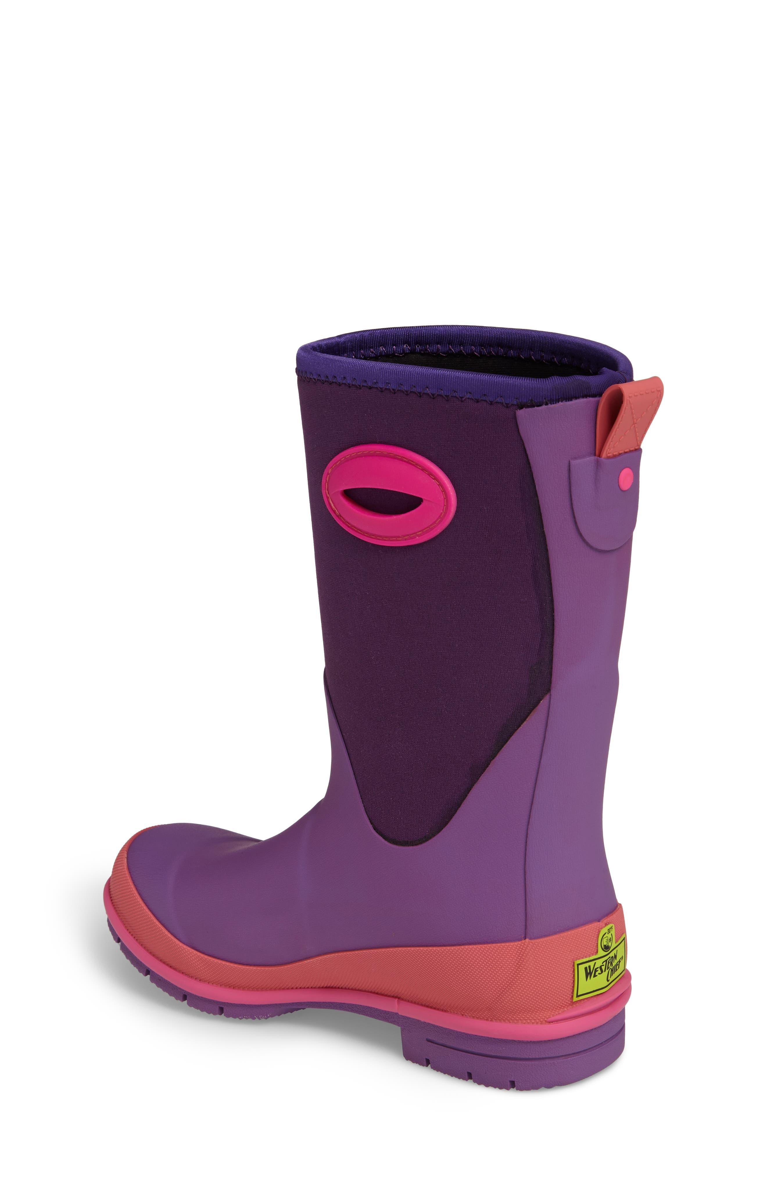 Neoprene Purple Snow Boot,                             Alternate thumbnail 2, color,                             Purple