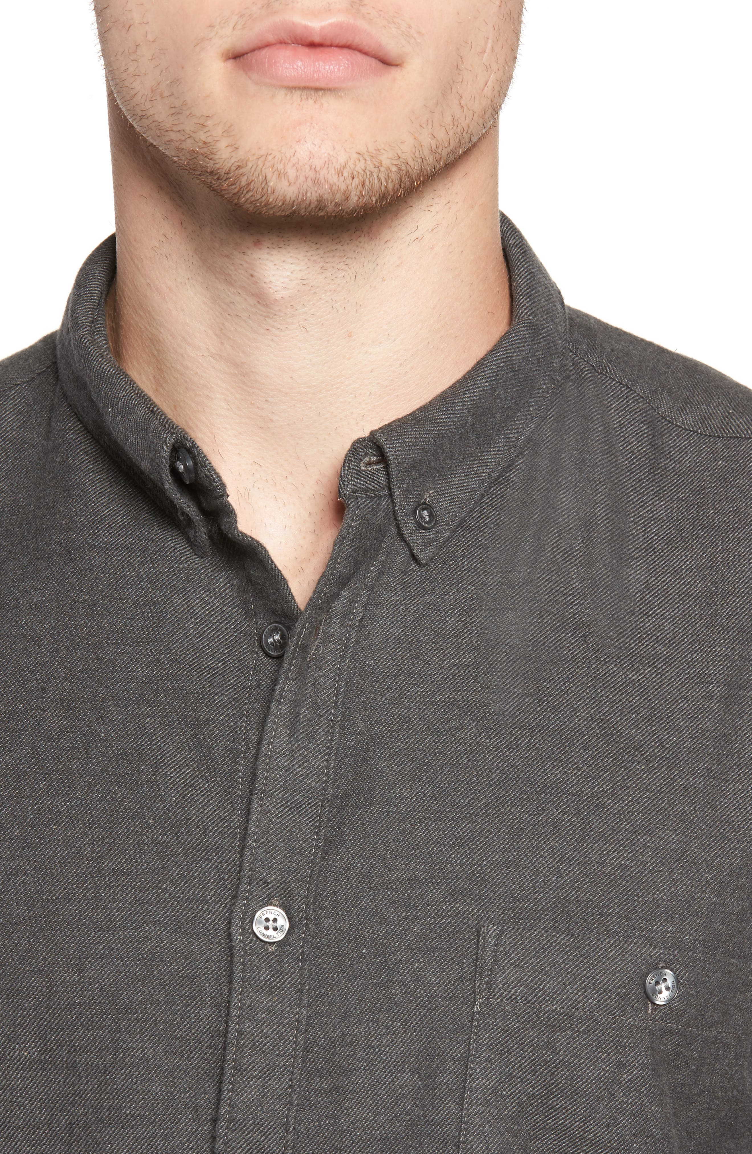 Alternate Image 4  - French Connection Regular Fit Flannel Sport Shirt