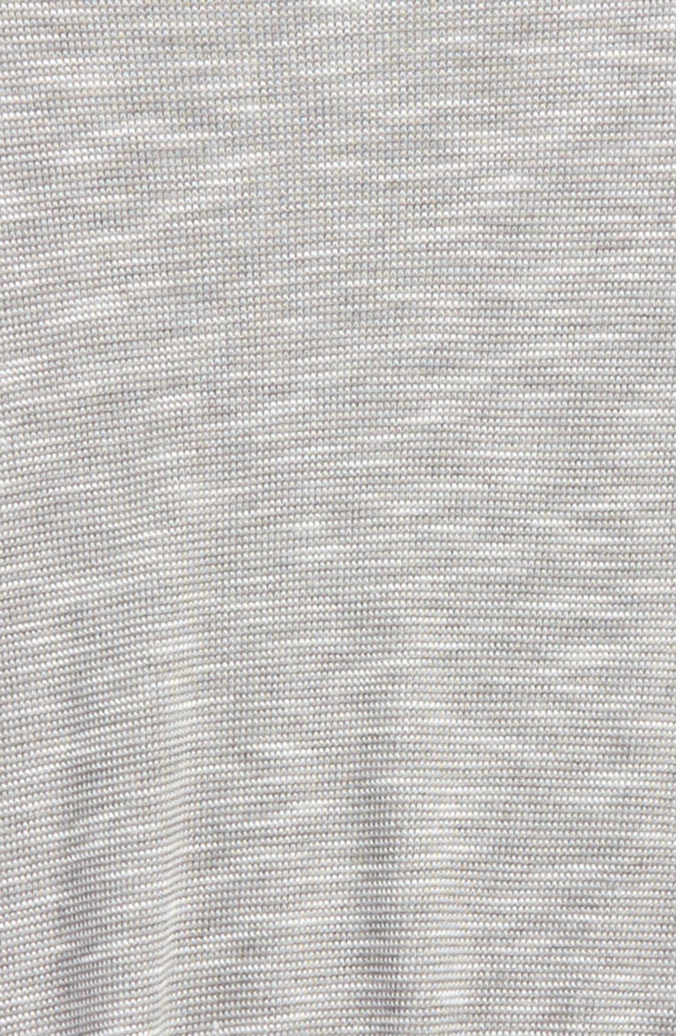 Drapey Sharkbite Hem Tee,                             Alternate thumbnail 2, color,                             Grey Medium Heather