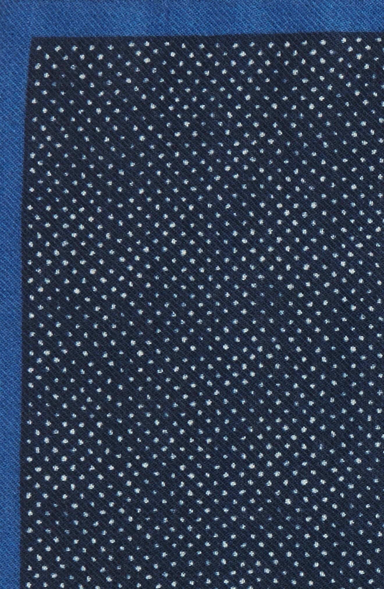 Dot Wool Pocket Square,                             Alternate thumbnail 3, color,                             Navy
