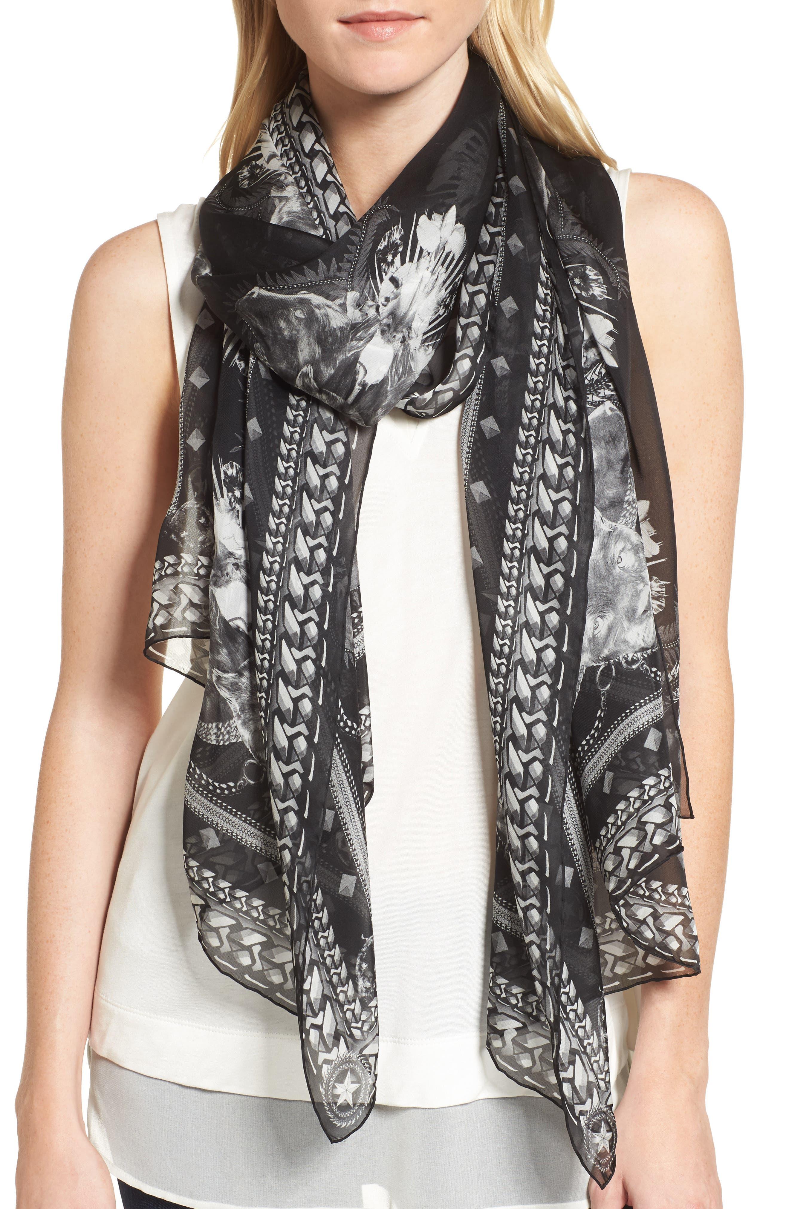 Alternate Image 2  - Givenchy Panther Silk Chiffon Scarf